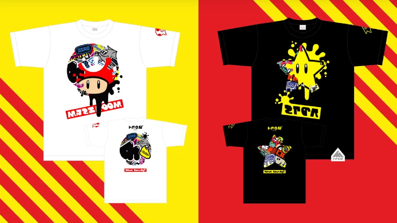 New Splatfest t-shirts for the upcoming Super Mario Bros 35th anniversary Splatoon 2 event are now available on the Nintendo shops.