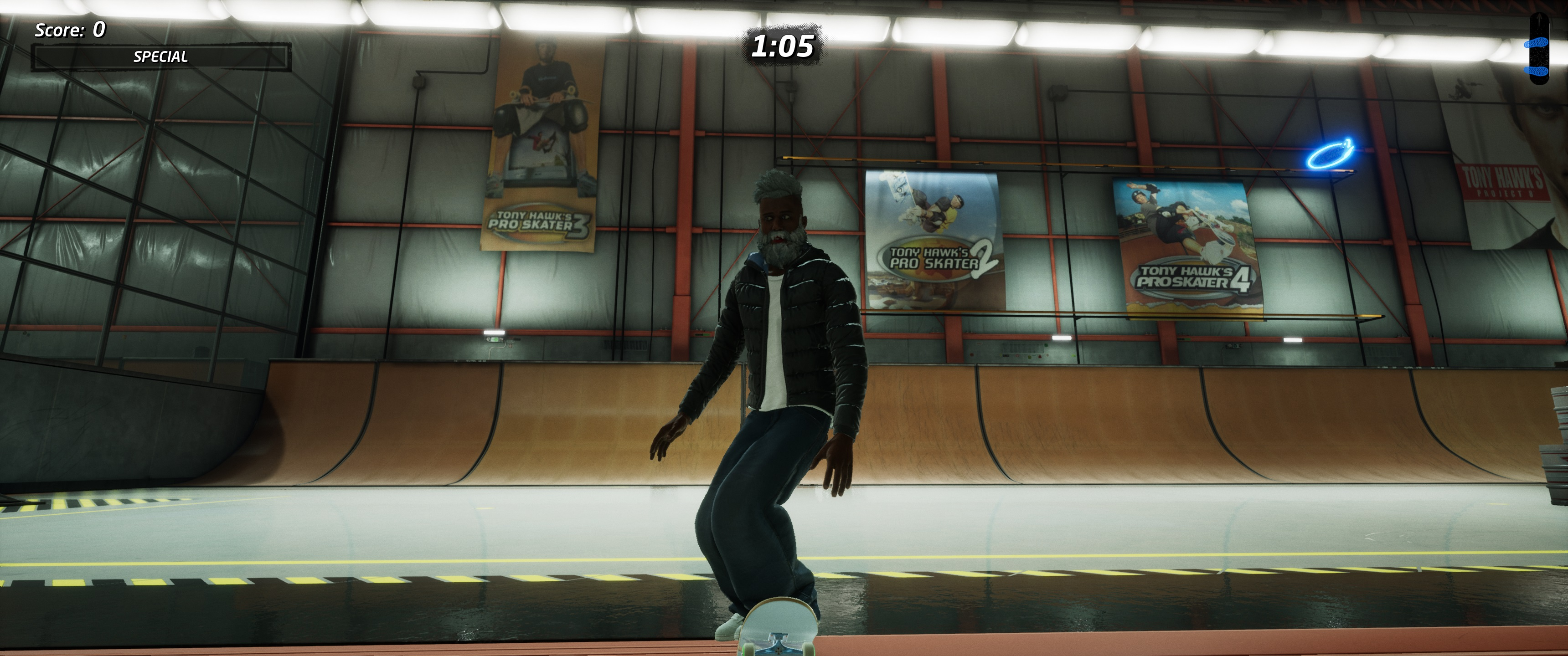 THPS 1+2 gives a nod to the franchise's history in the remake of the iconic THPS 2 Hangar level.