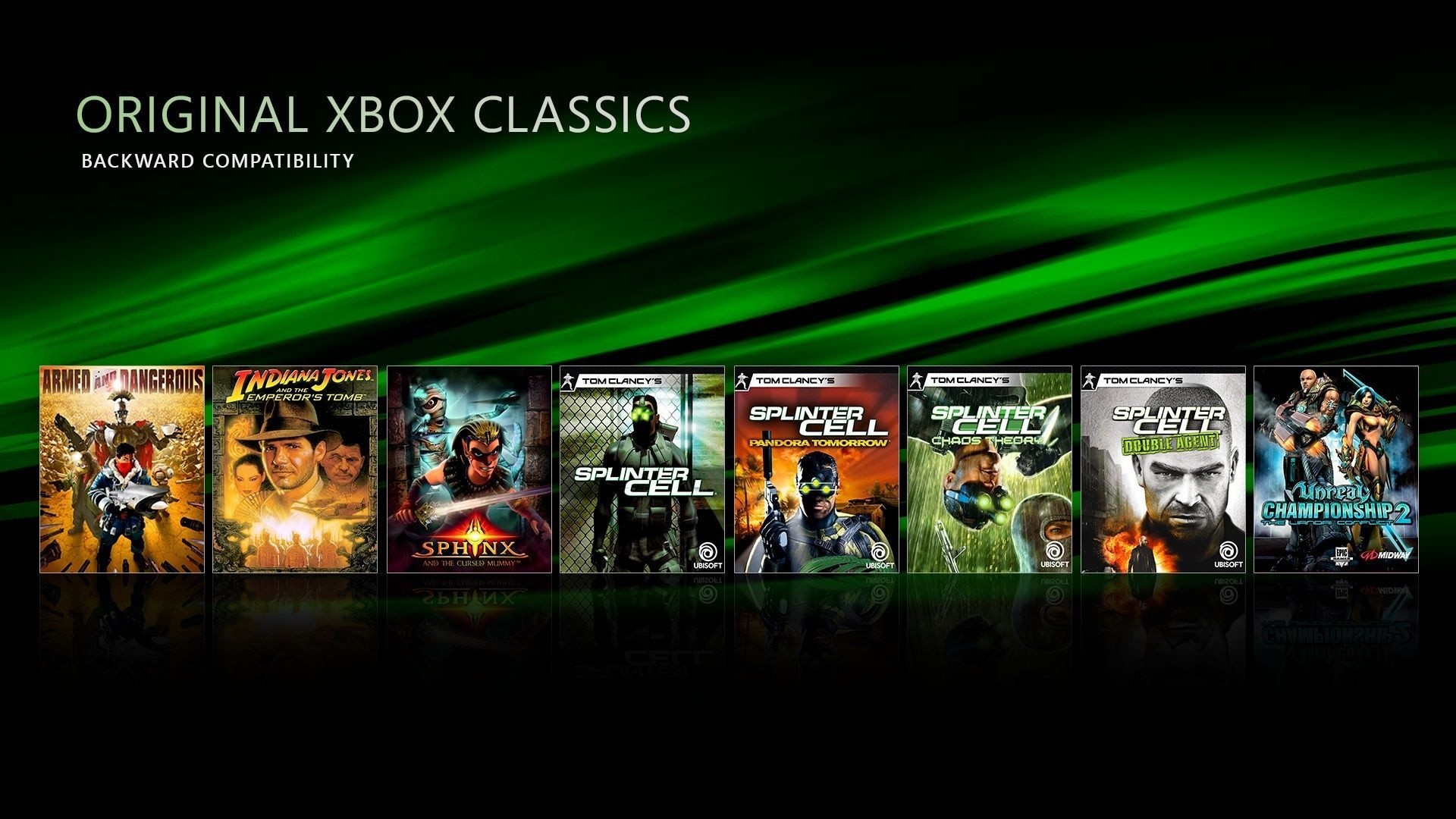 Classic titles on the original Xbox.