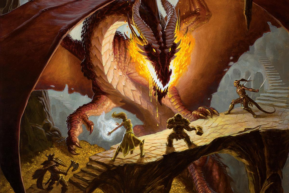 A dnd dragon