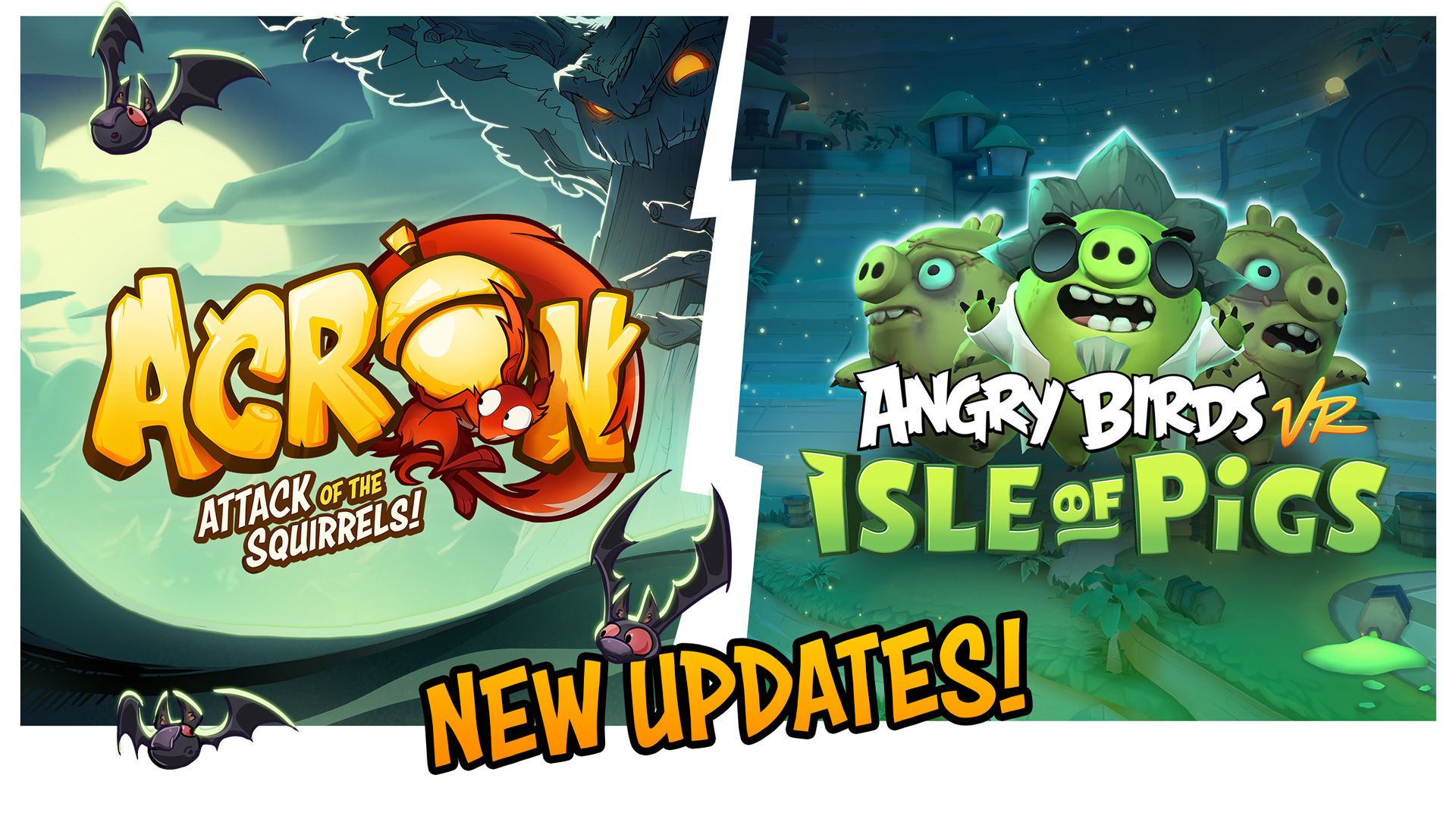 angry birds vr and acorn halloween update