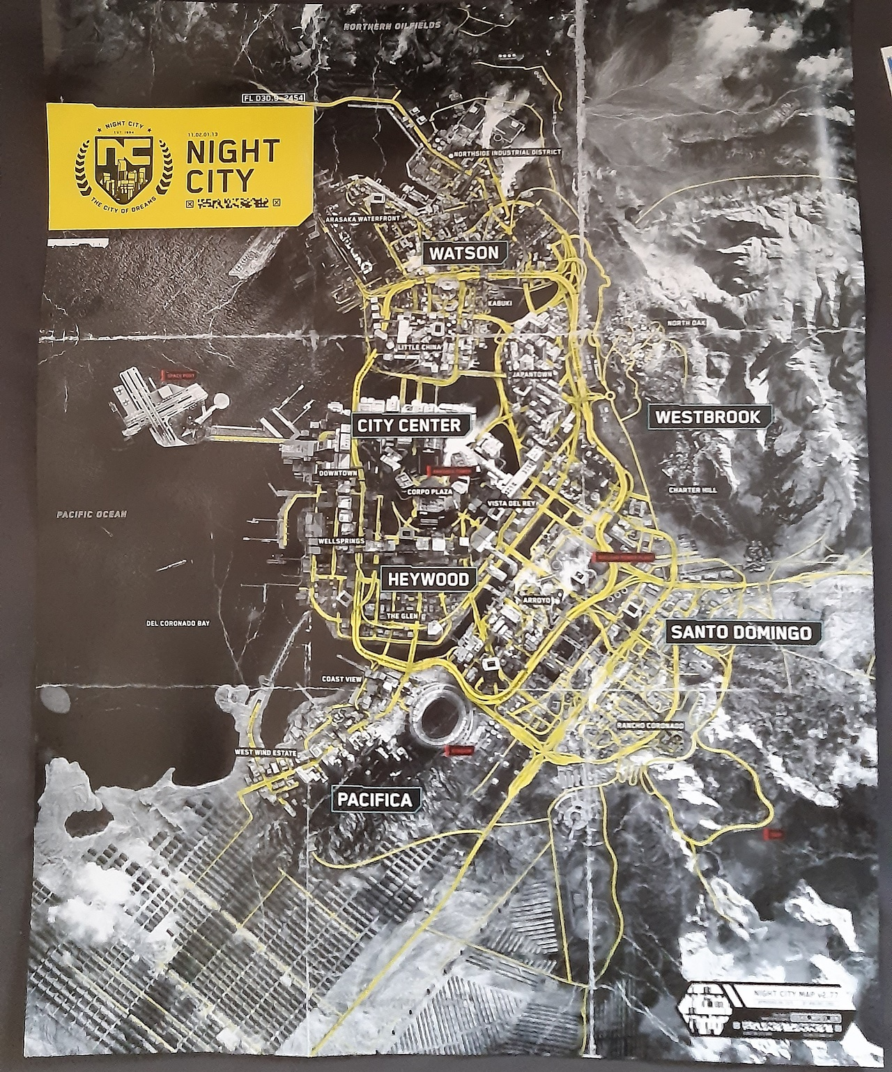 If the map of Night City below is to be believed, it looks like we have a pretty accurate layout of what Cyberpunk 2077's playable area will look like on a grand scale.