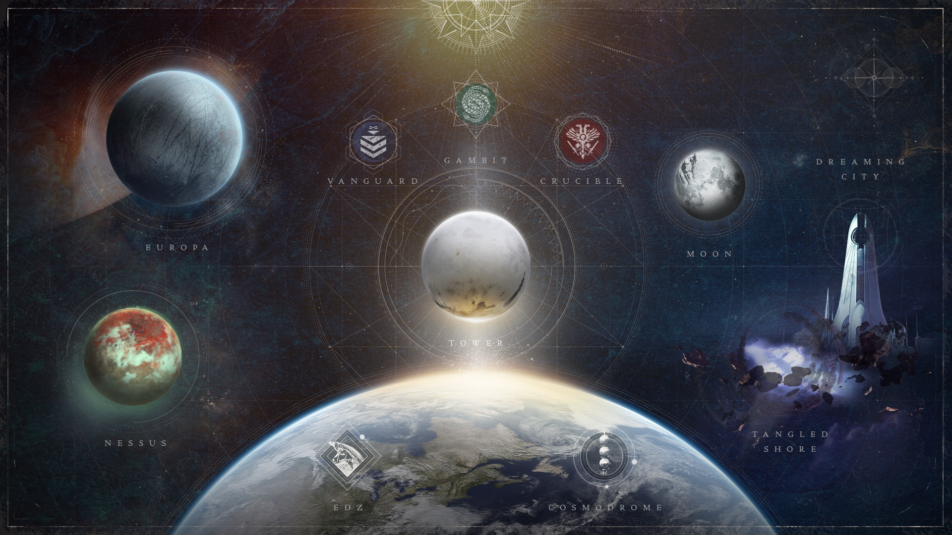 Here's what the new Director that Bungie showed off in June looks like.