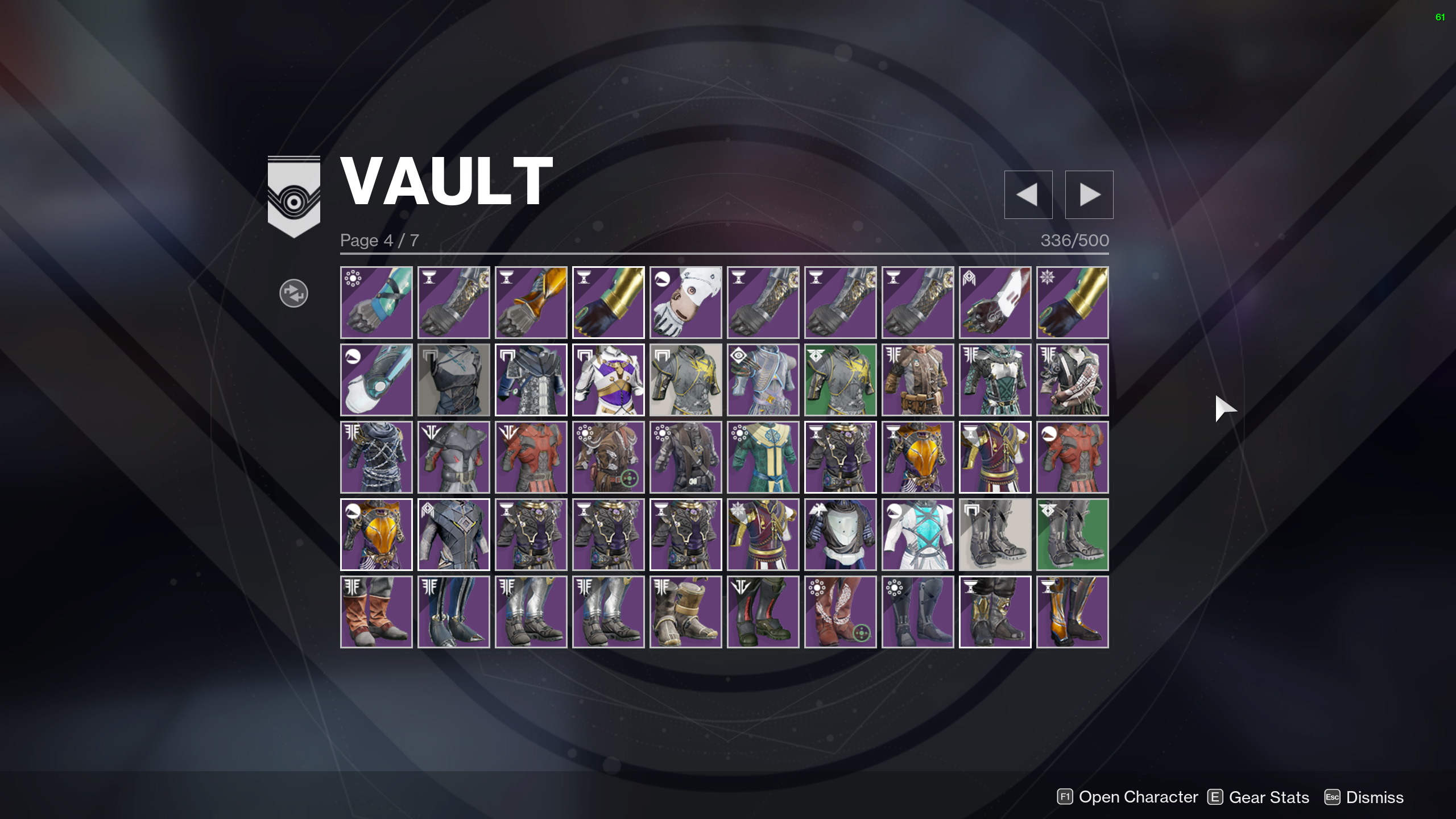 destiny 2 transmog vault space