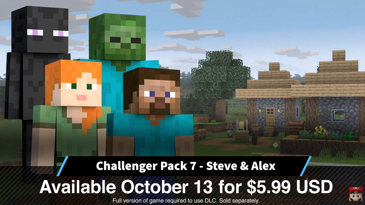 Minecraft's Steve & Alex release time