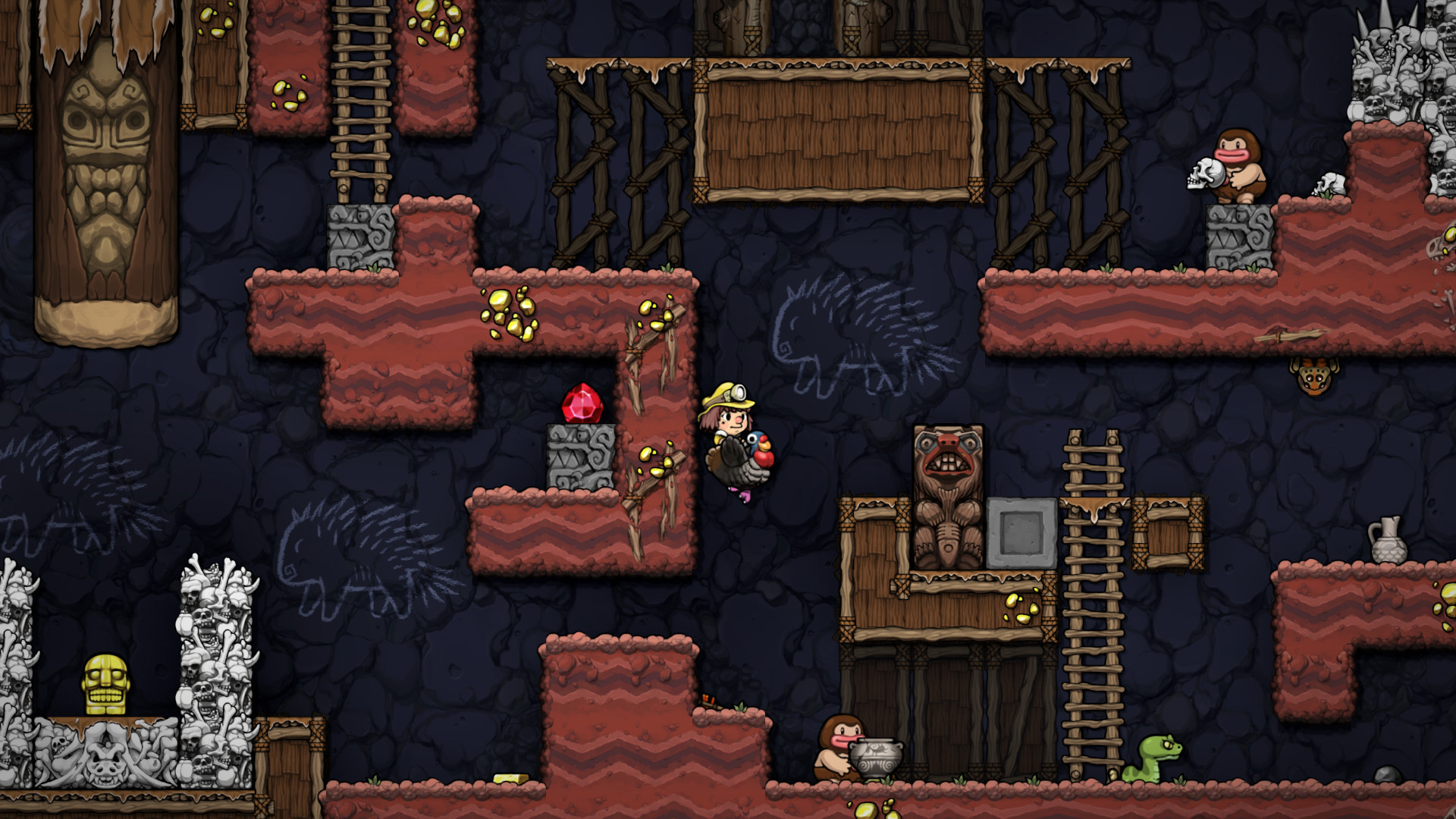 Best Ps4 games of 2020 - Spelunky 2