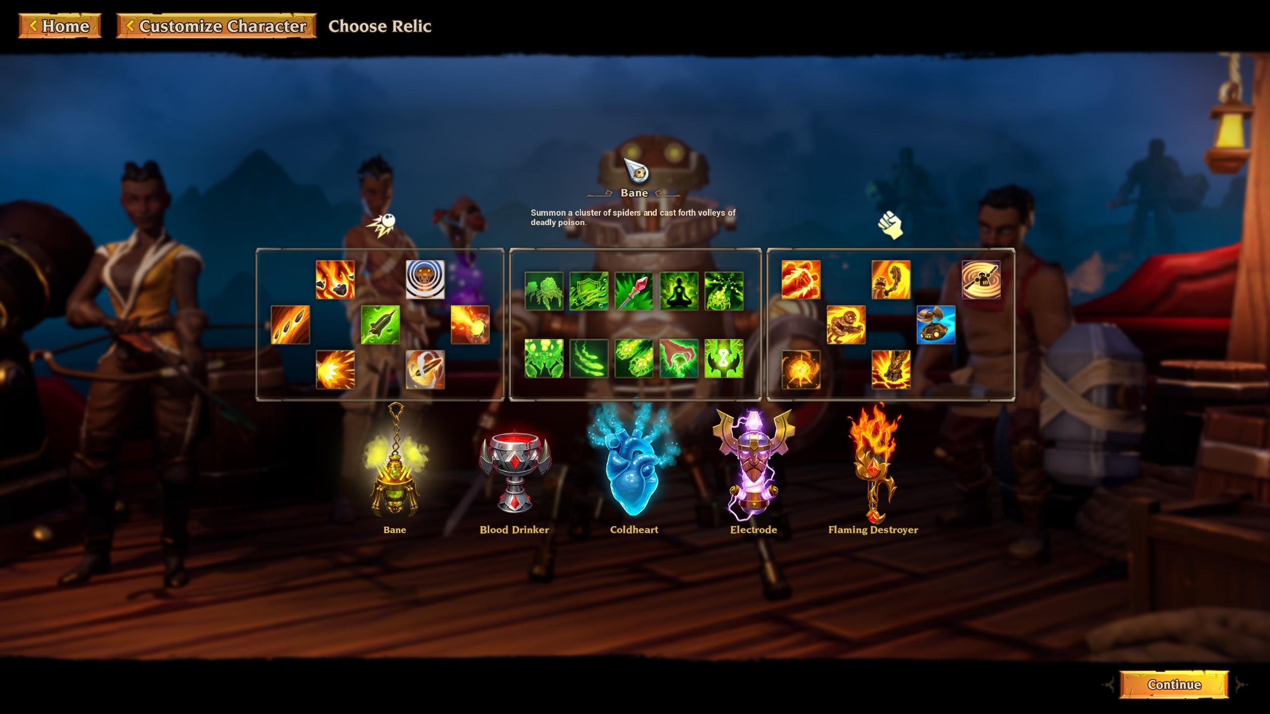 Torchlight 3 pick relic Bane