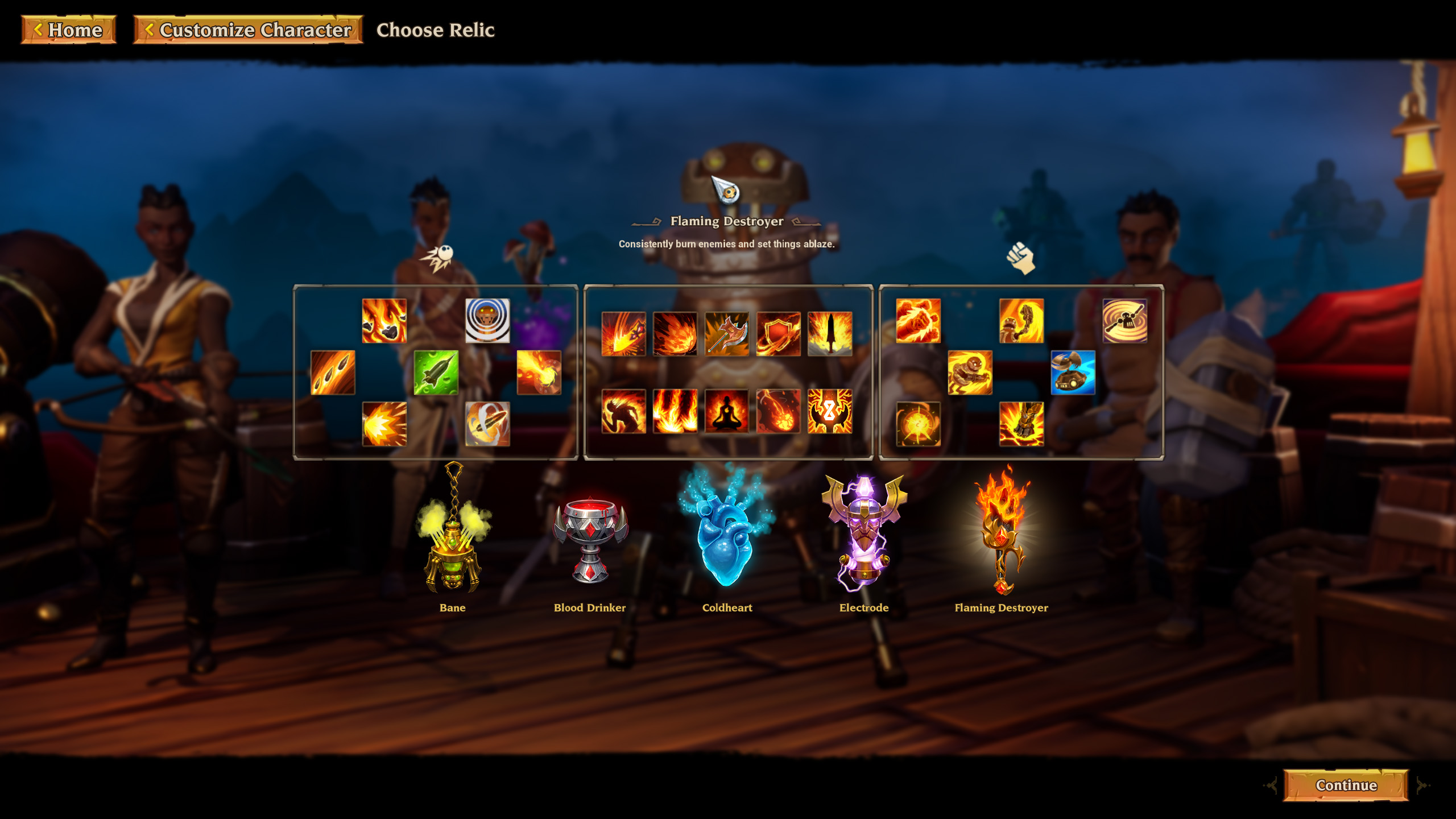 Torchlight 3 pick relic Flaming Destroyer