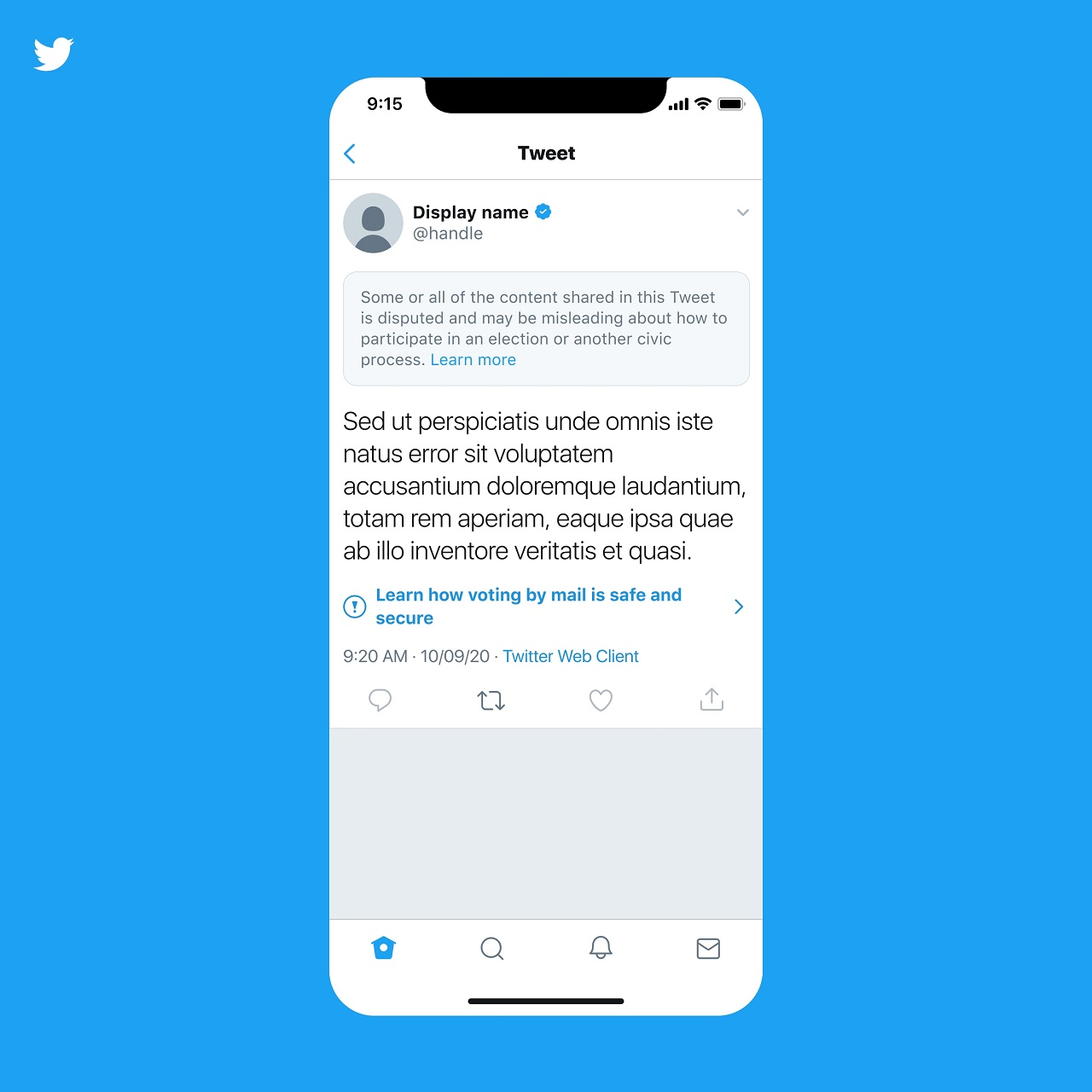 Twitter's new policies and systems will limit views to the posting of disinformation about the 2020 election.