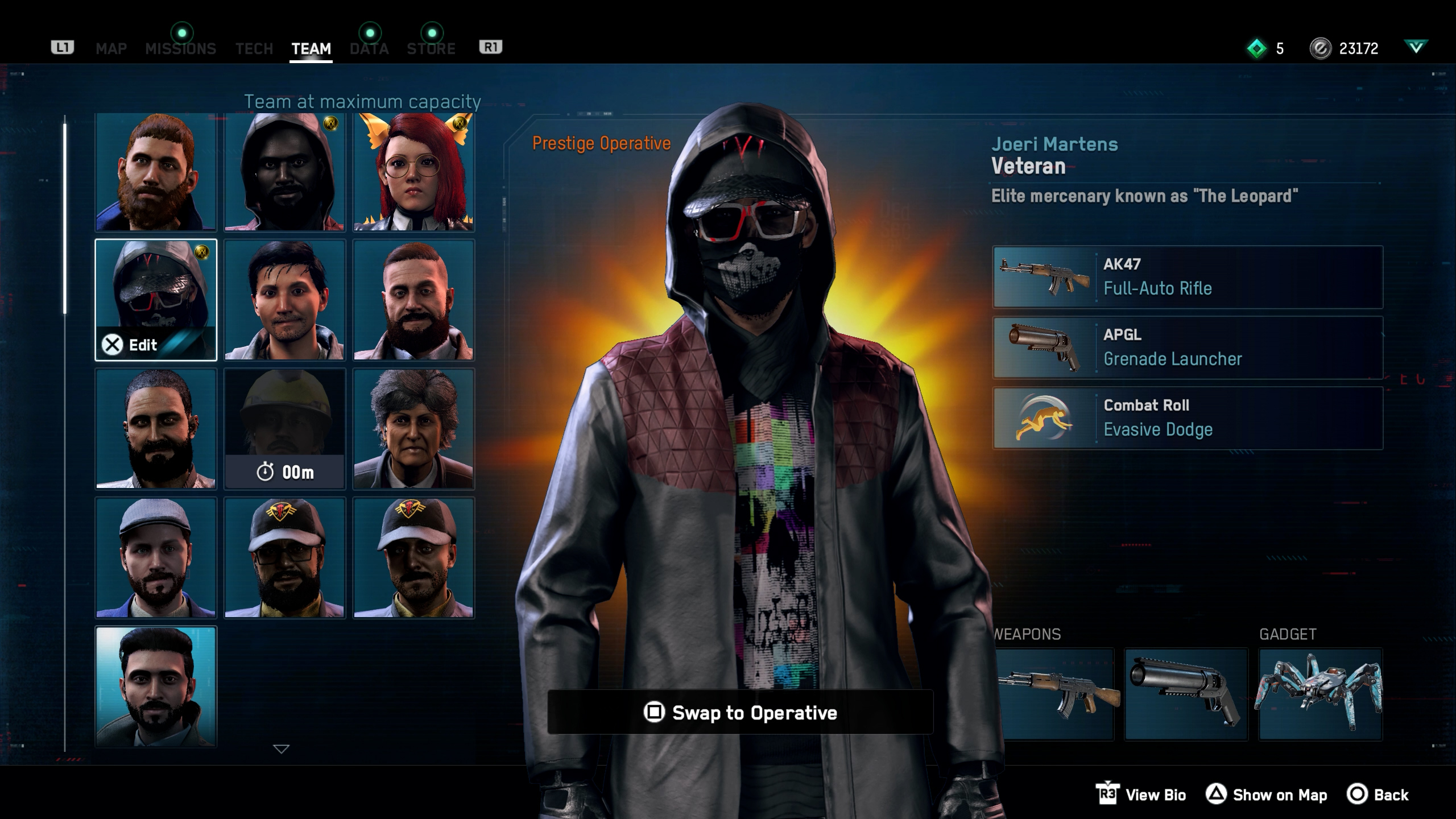 How to change operatives in Watch Dogs: Legion