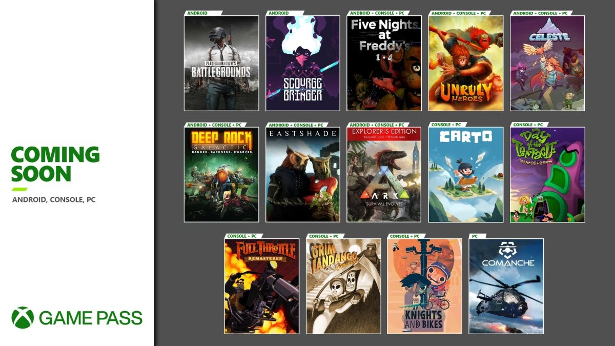 Xbox Game Pass Additions for October 2020
