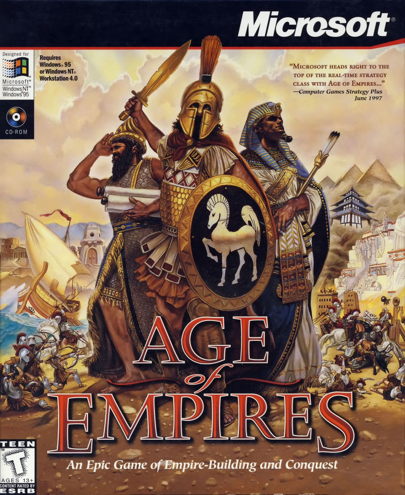 Age of Empires's box art.
