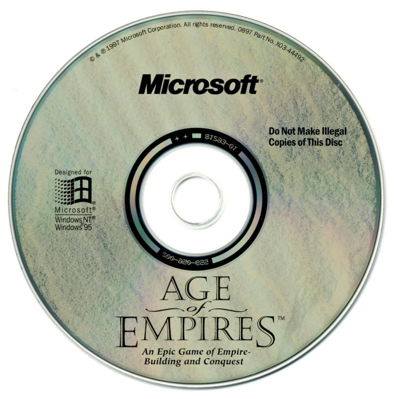 Age of Empires's game disc.