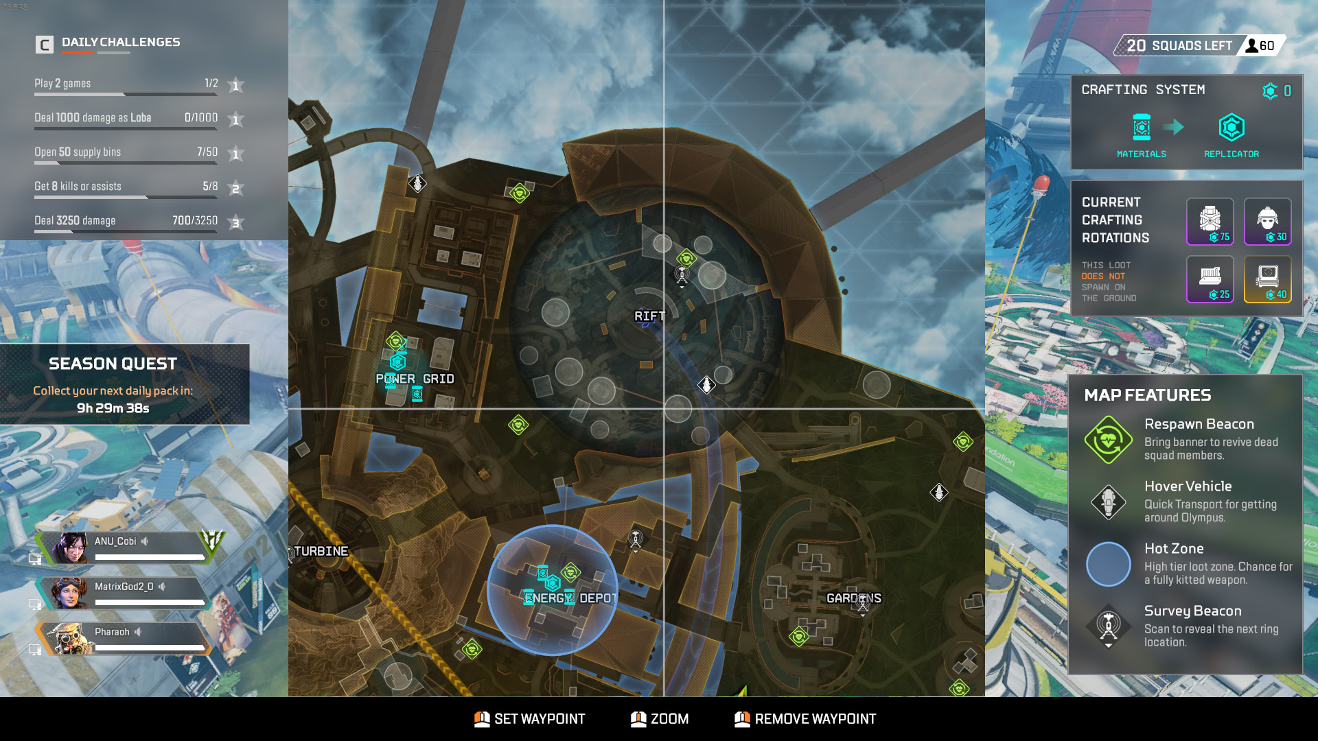 Best places to land on Olympus - Apex Legends - Rift