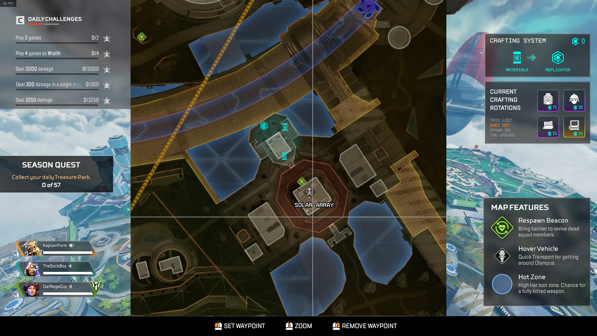Best places to land on Olympus - Apex Legends - solar array
