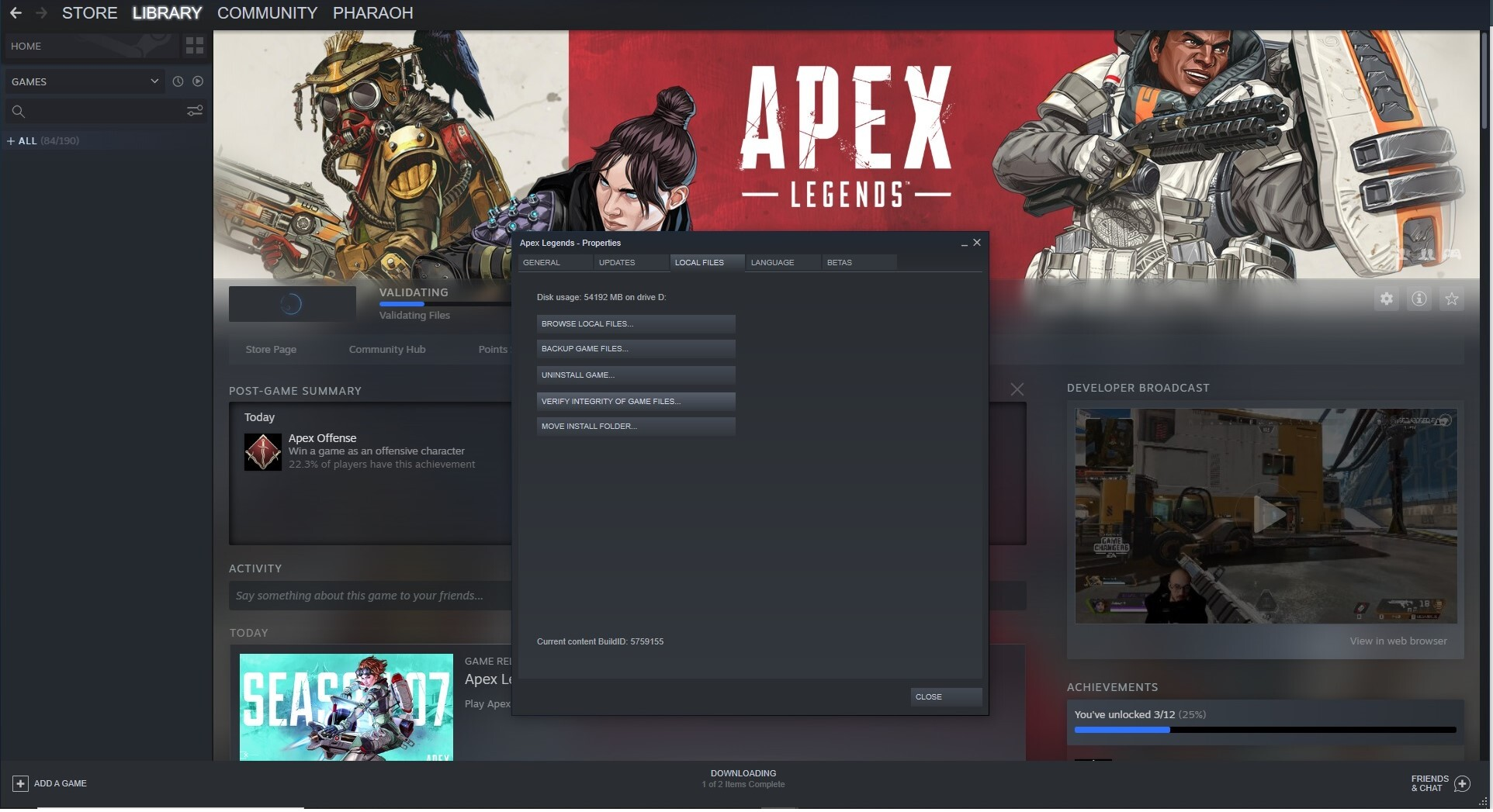 How to fix the Apex Legends shadow bug - steam