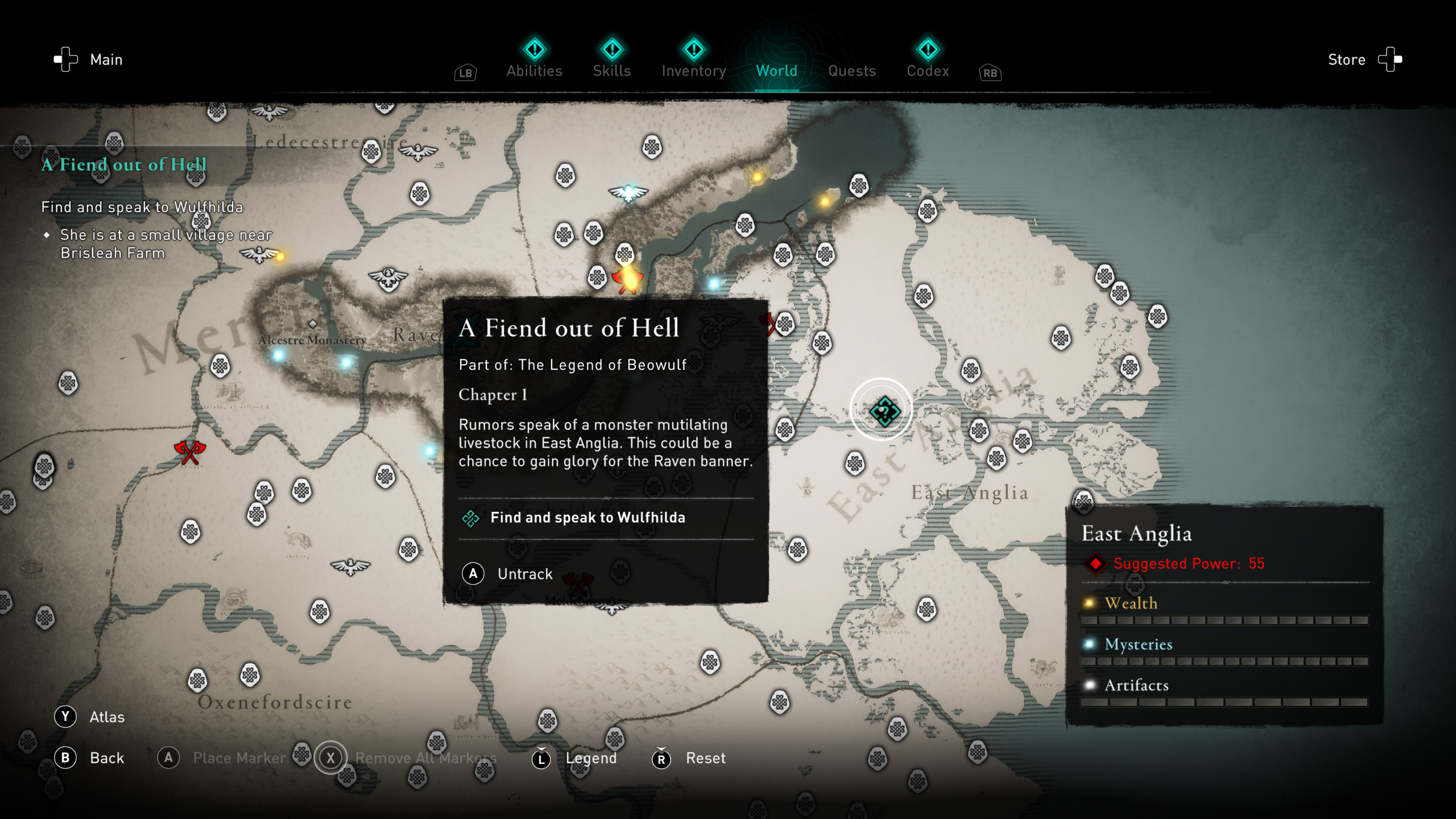 Beowulf quest start - Assassin's Creed Valhalla