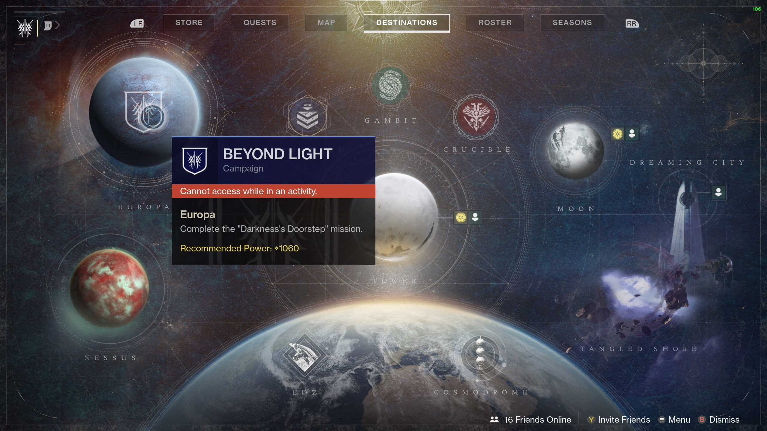 destiny 2 beyond light darkness's doorstep