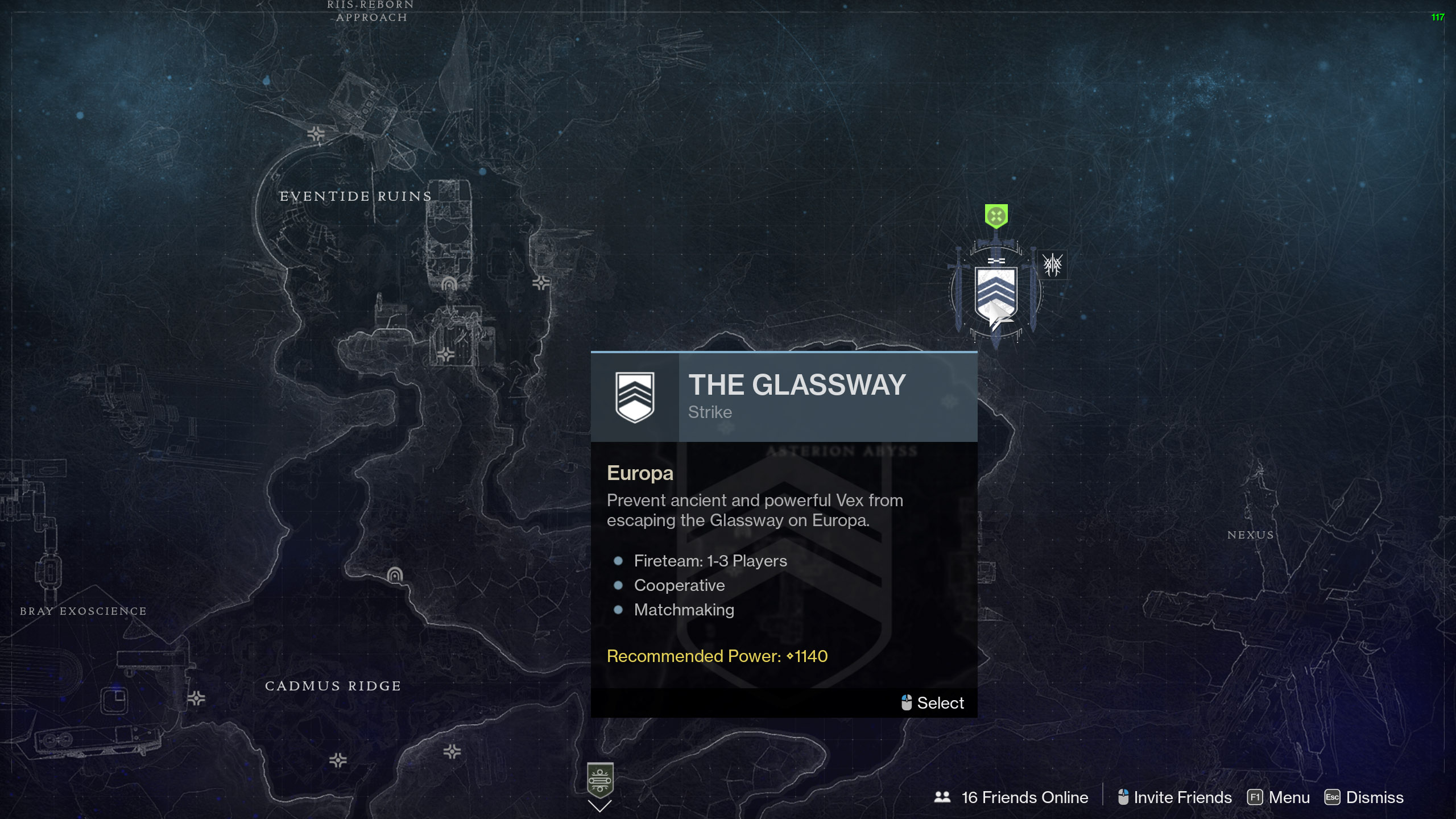 destiny 2 beyond light the glassway strike