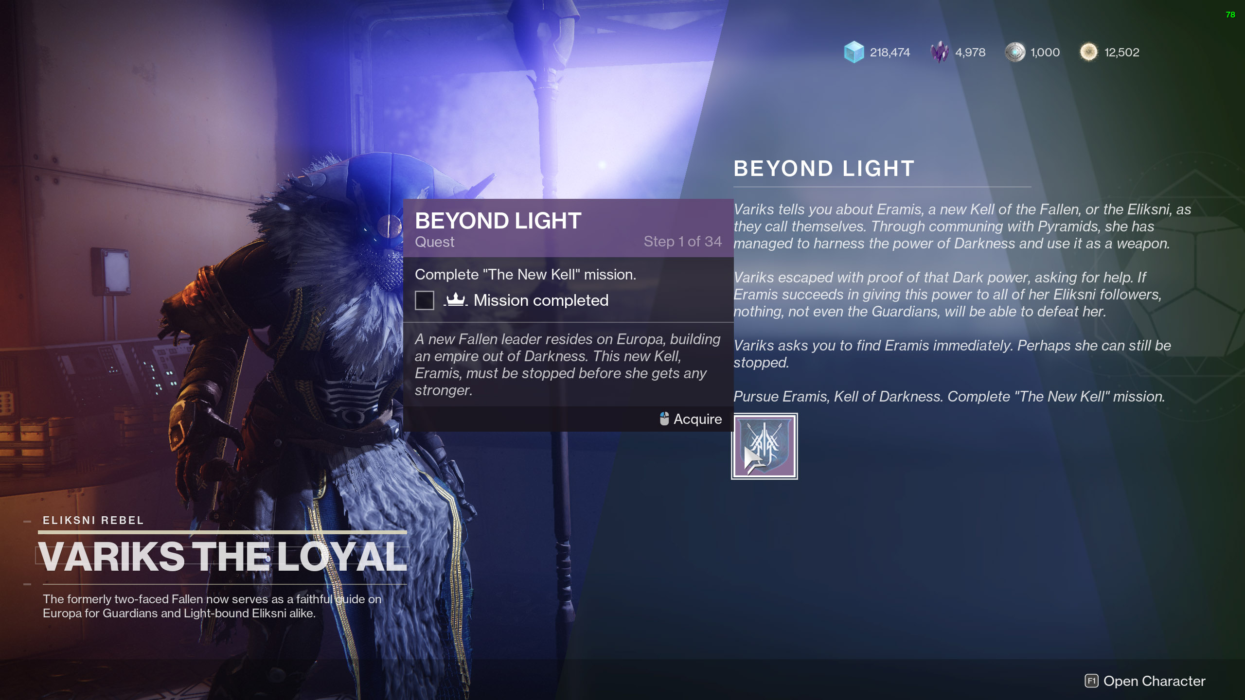 destiny 2 beyond light the new kell