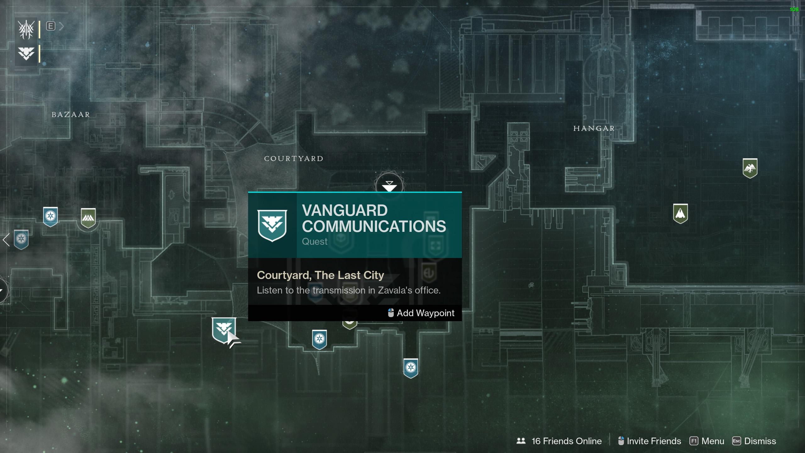 destiny 2 beyond light seasonal artifact vanguard communications