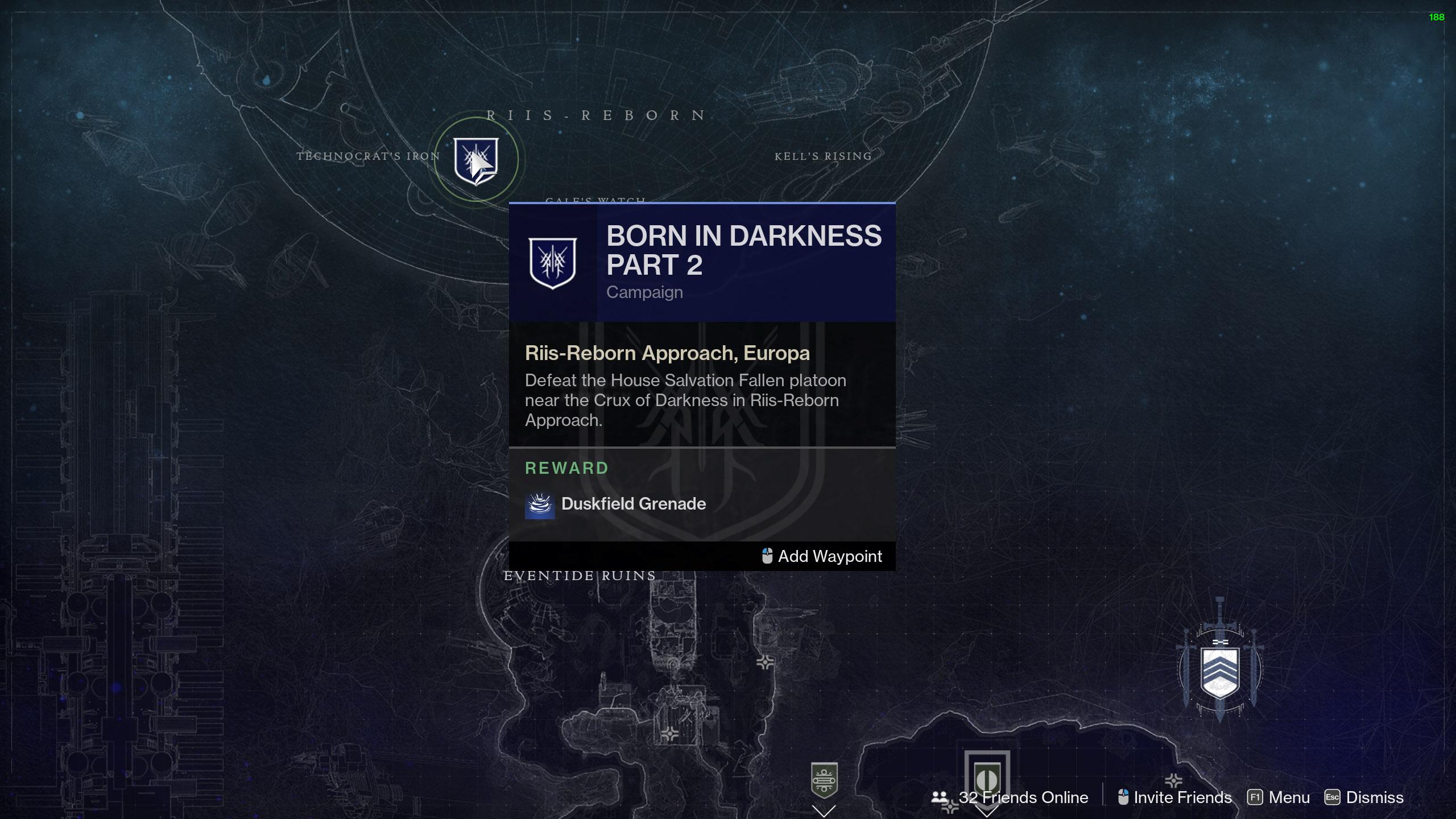 Destiny 2: Квест Рождённый во тьме