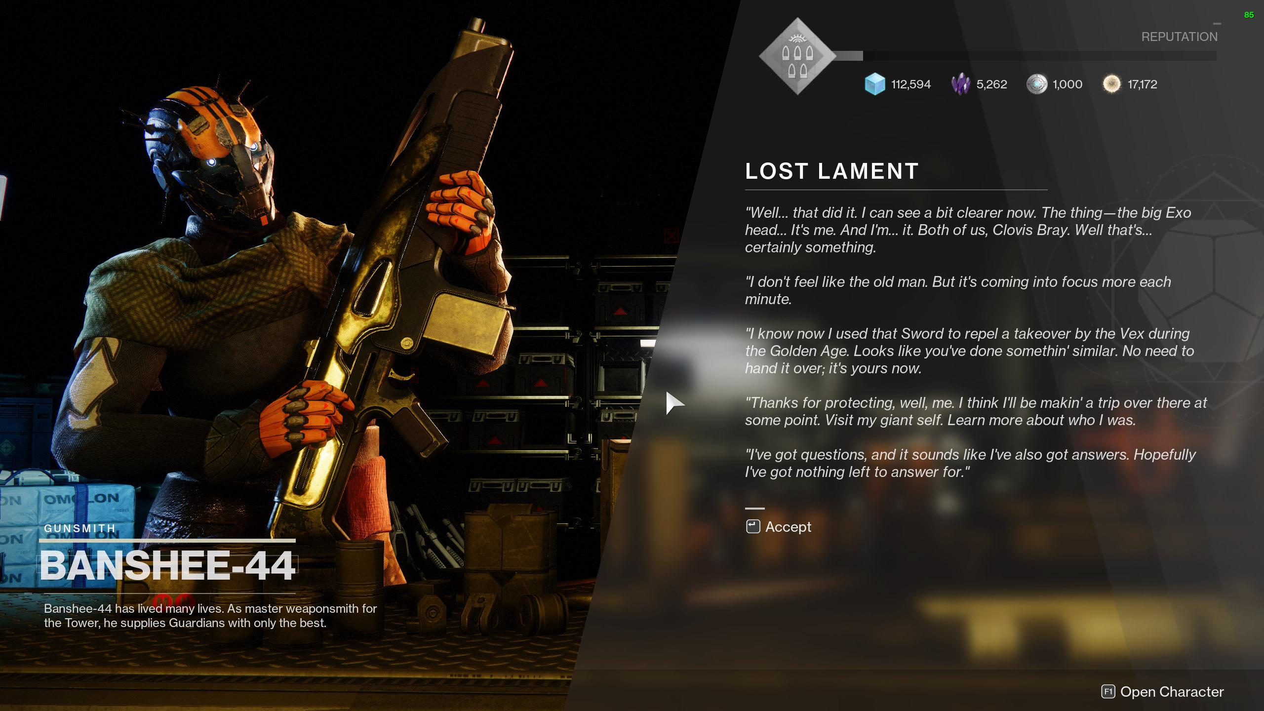 destiny 2 lost lament banshee