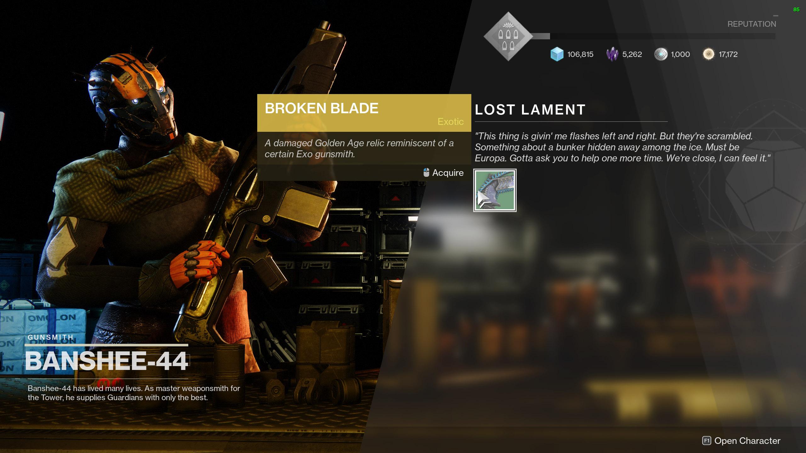 destiny 2 lost lament broken blade