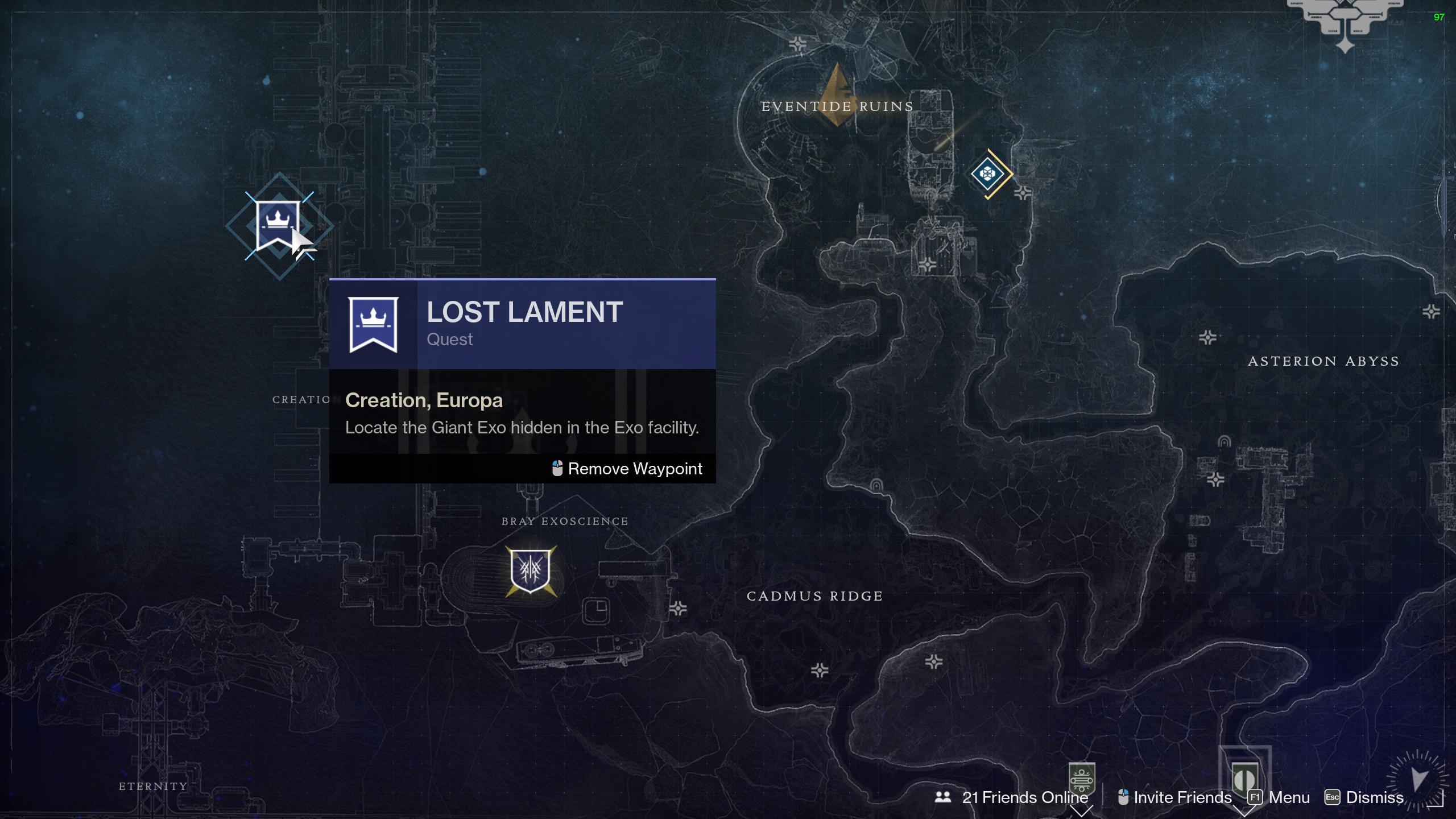 destiny 2 find giant exo head