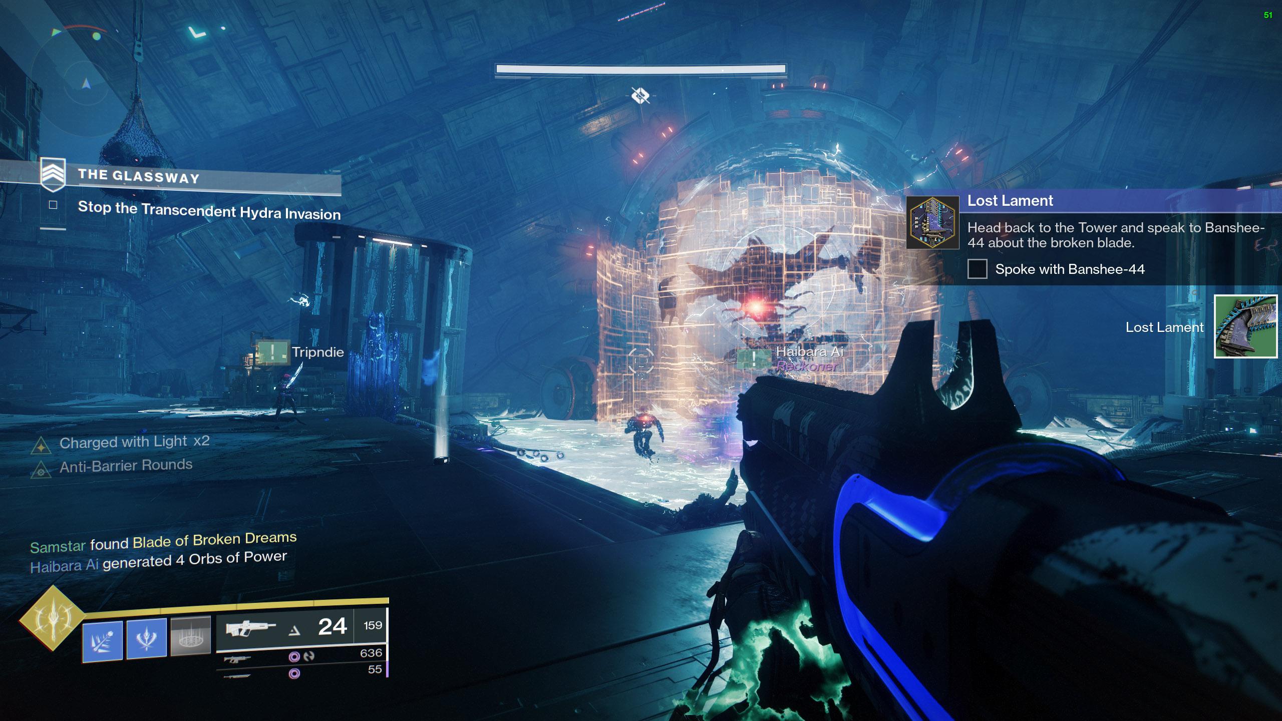 destiny 2 rescue the past lost lament glassway strike