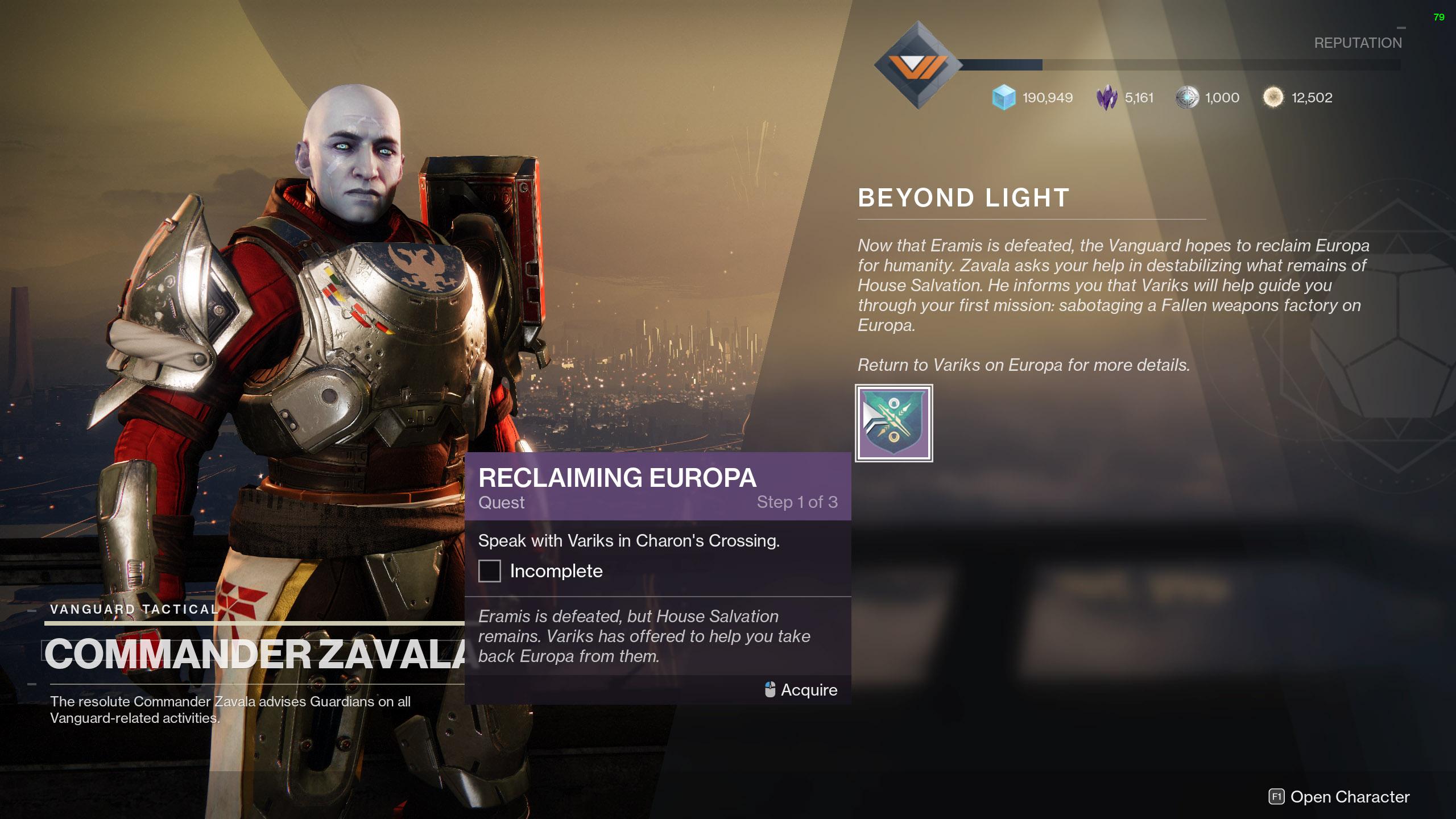 destiny 2 reclaiming europa quest