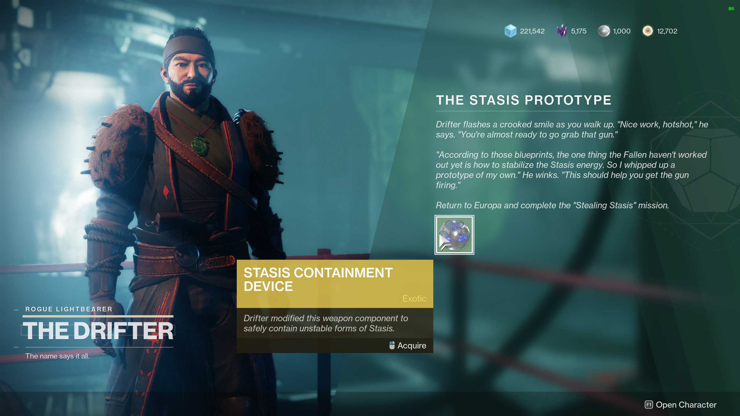 destiny 2 the stasis prototype