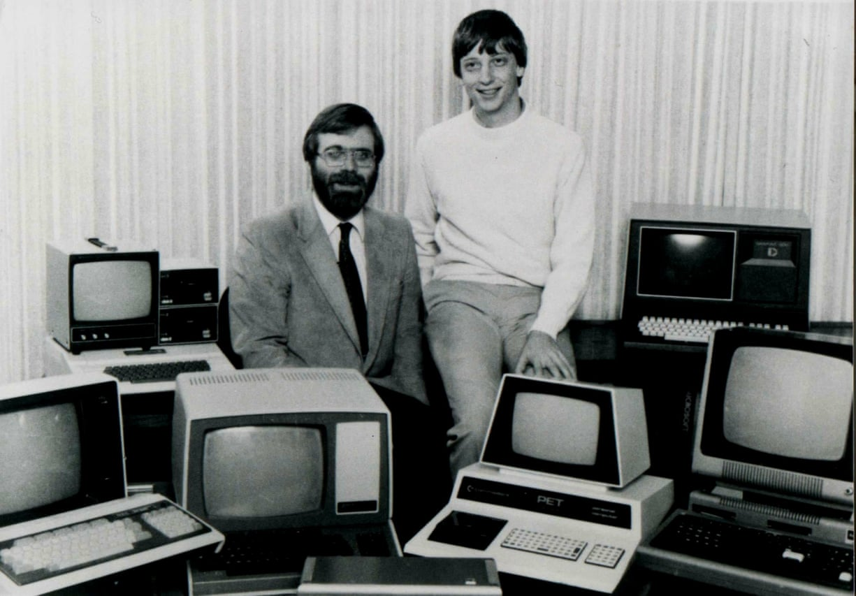 "Microsoft (and ""Micro-Soft"") co-founders Bill Gates and Paul Allen."