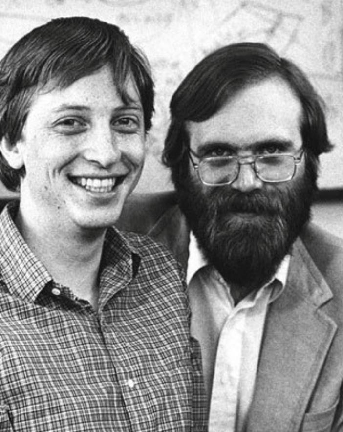 Bill Gates (left) and Paul Allen.