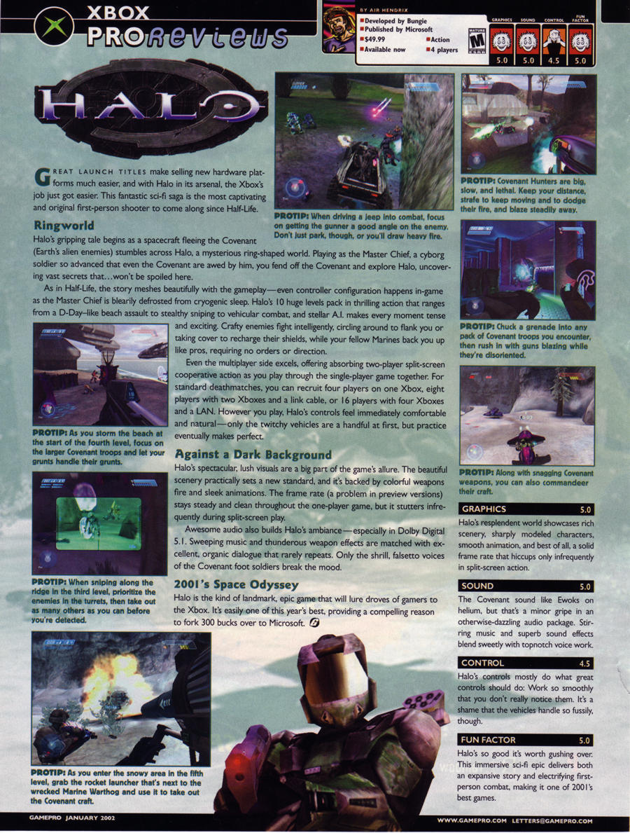 GamePro's review of Halo: Combat Evolved.