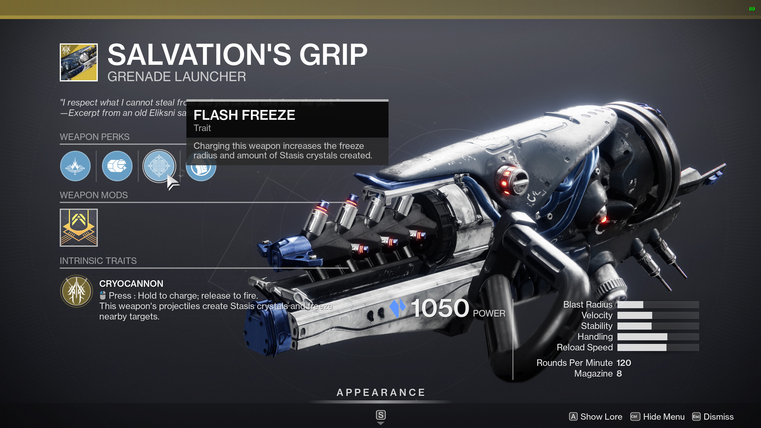 destiny 2 salvations grip perks