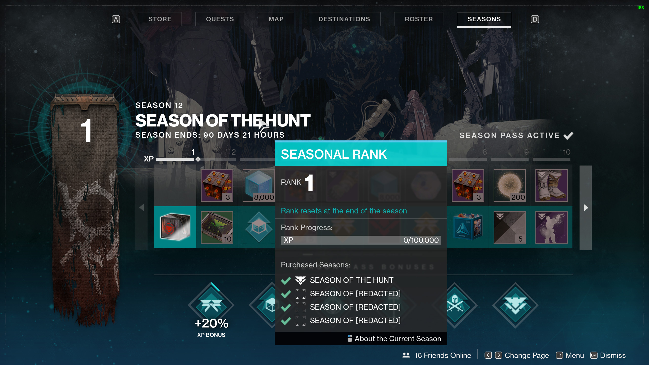 destiny 2 season of the hunt end date