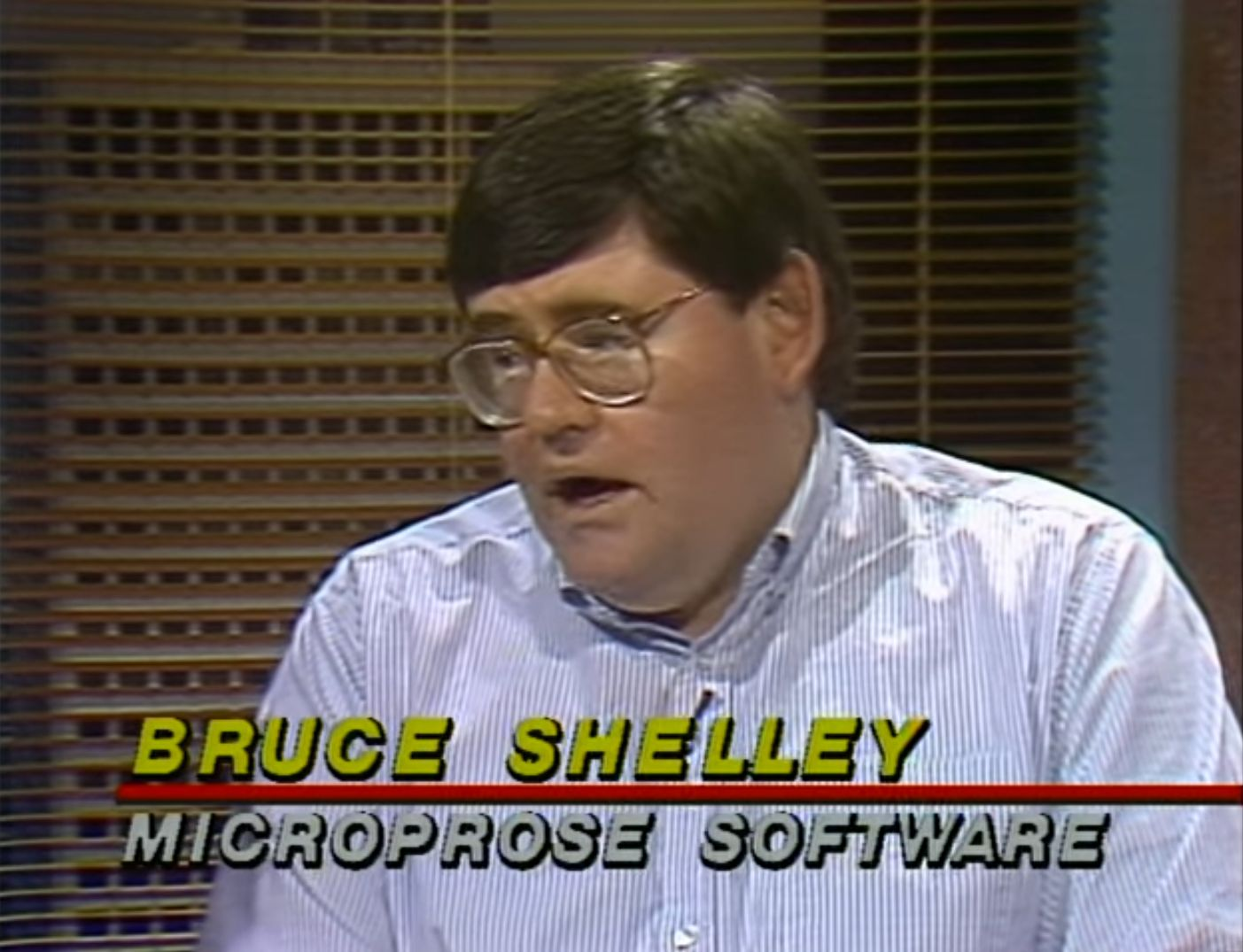 A shot of Bruce Shelley from a popular computer program (as in, a TV program about computers) that focused on games.