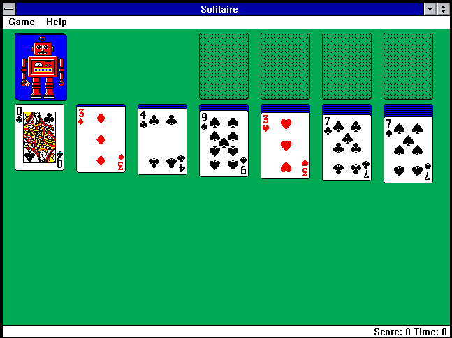 Solitaire for Windows.