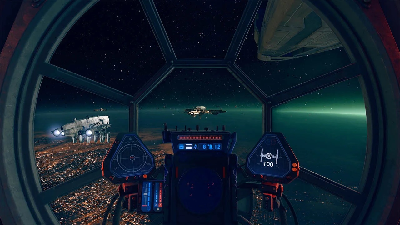 """In addition to a new forfeit system, the Star Wars: Squadrons Update 2.0 has adjusted flagships to destroy players """"mosquito-ing"""" under the ships."""