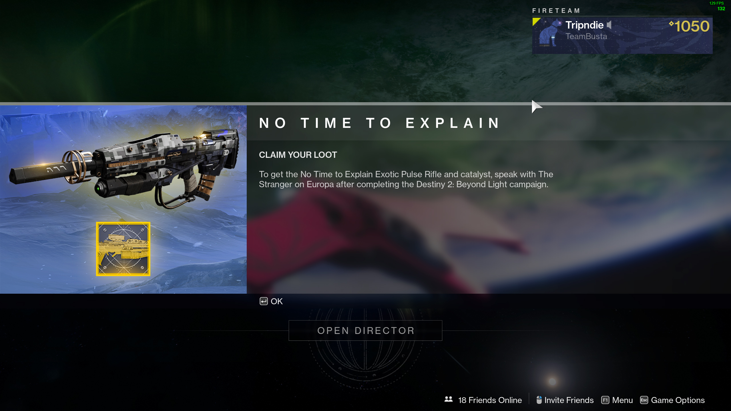 unlock No time to Explain Destiny 2