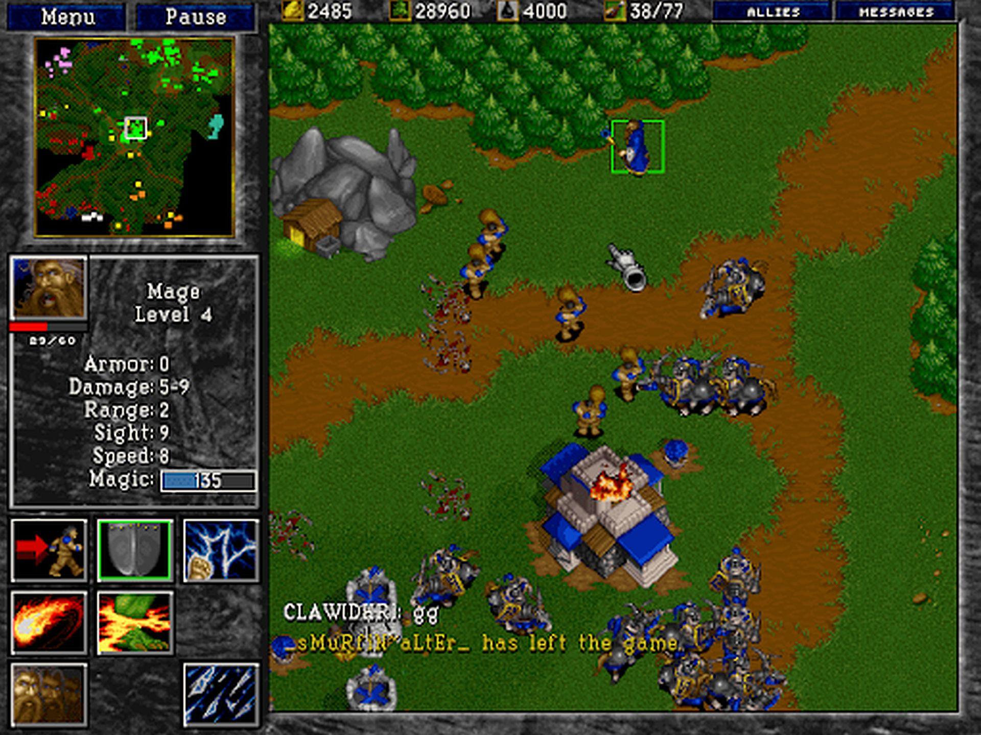 Blizzard Entertainment's WarCraft II.