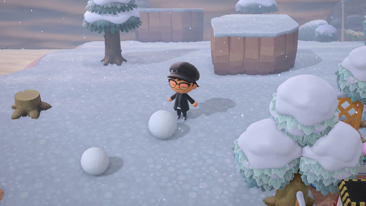 how to build a snowman - animal crossing: new horizons