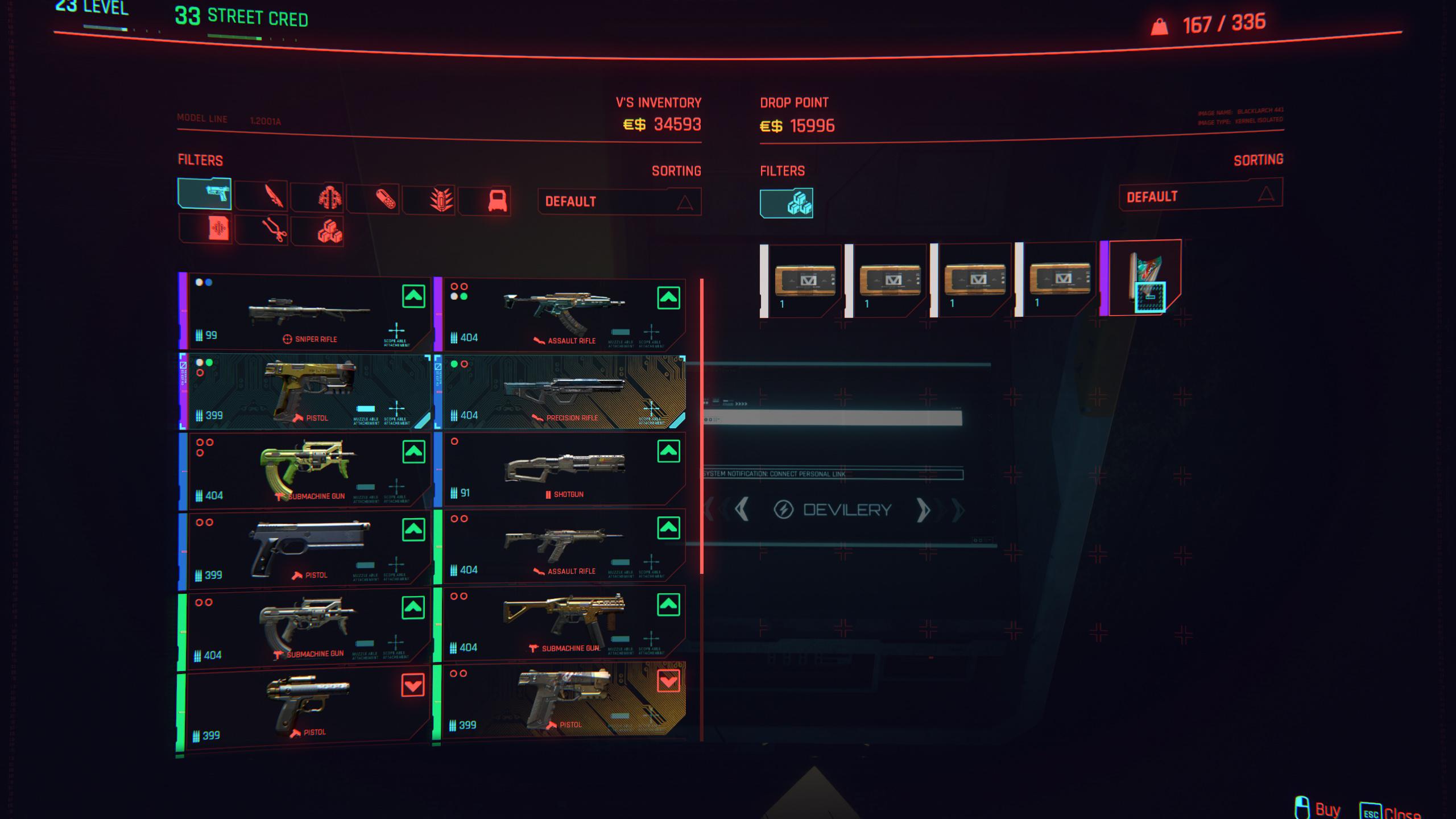 cyberpunk 2077 money glitch - duplicate item screen