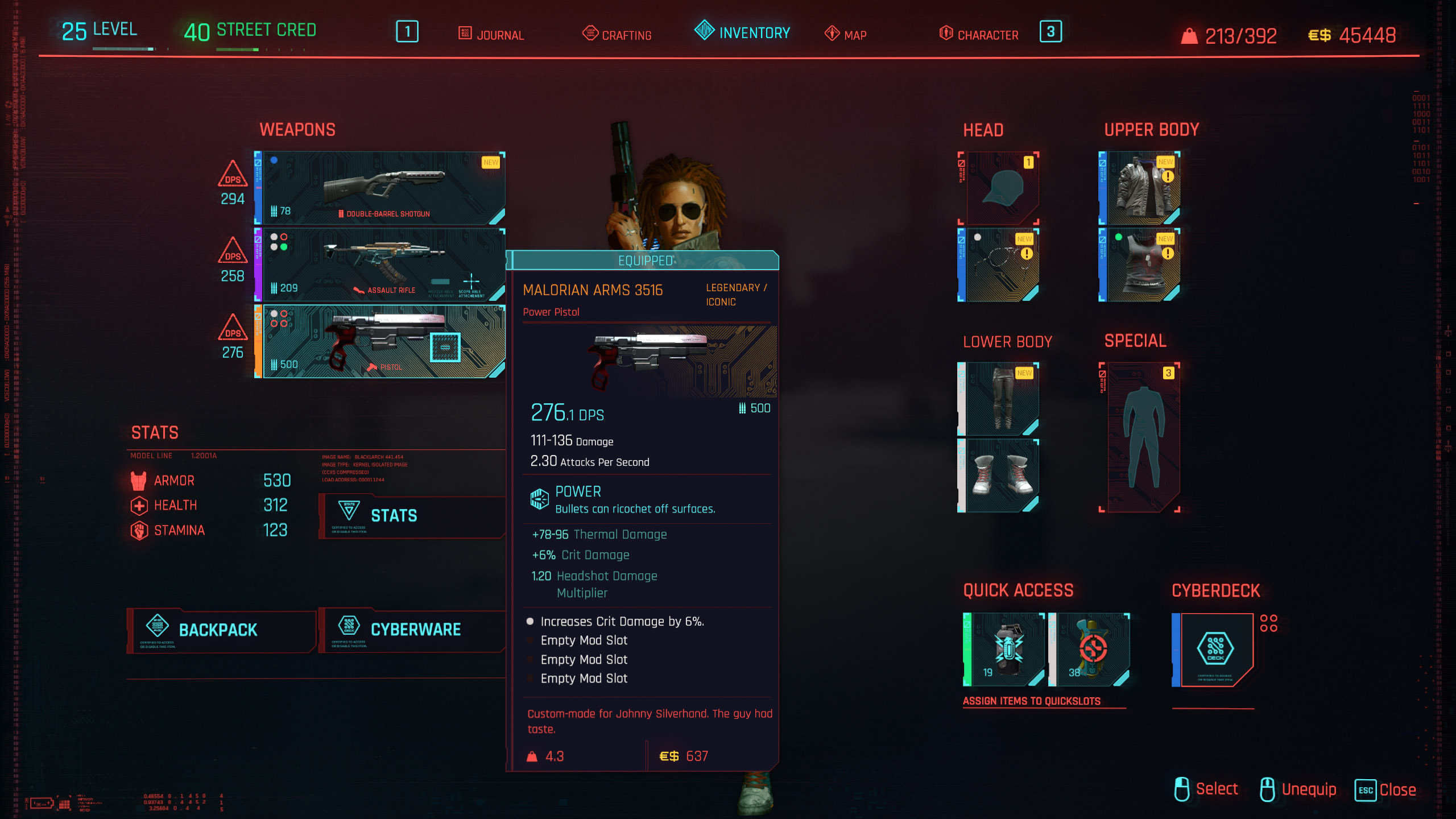 How to get Johnny Silverhand's gun - Cyberpunk 2077