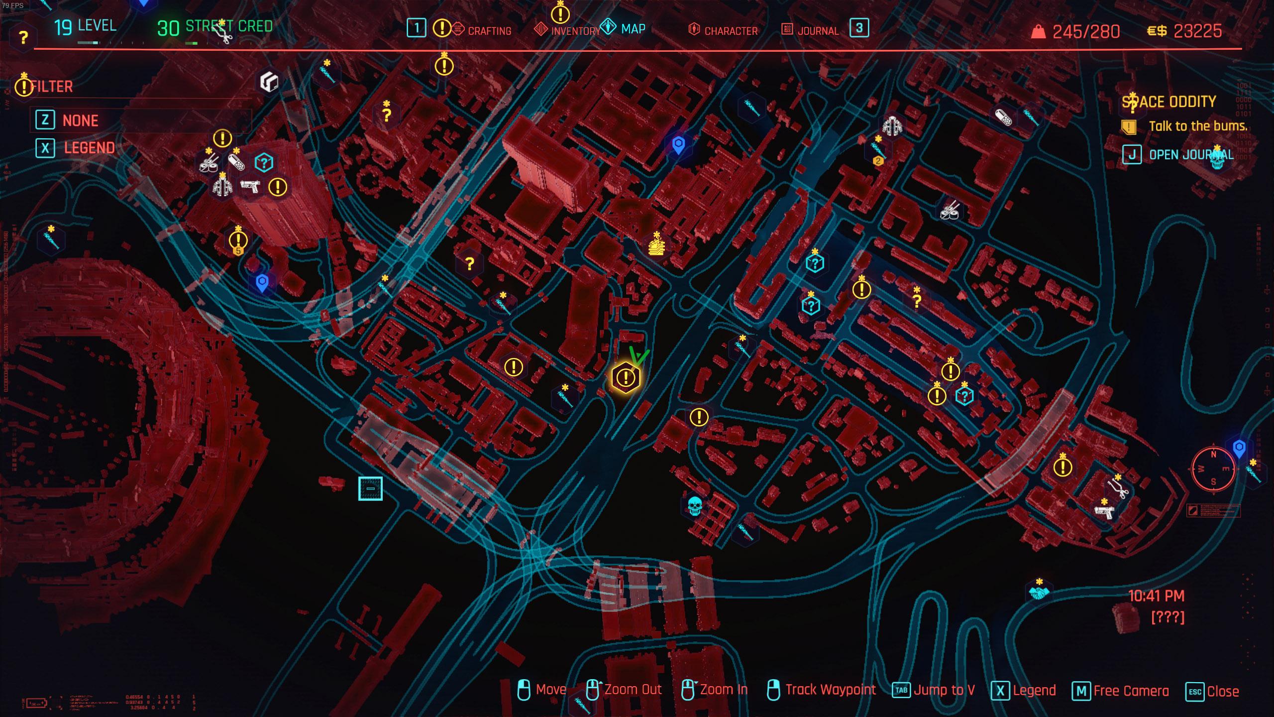 cyberpunk 2077 money glitch - space oddity quest location