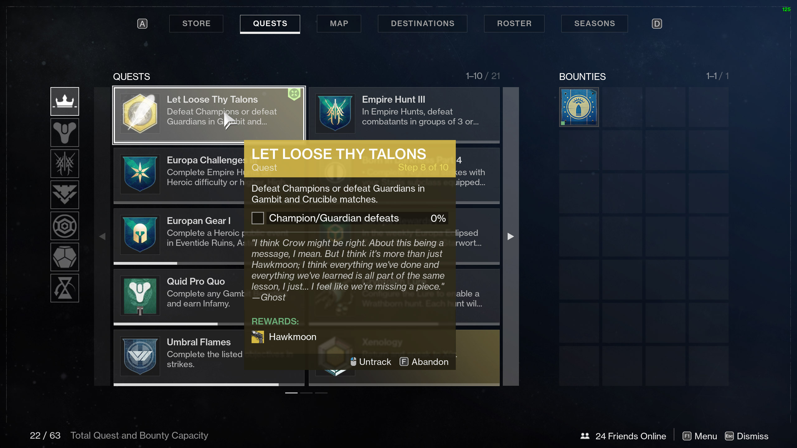 destiny 2 let loose thy talons defeat champions or guardians