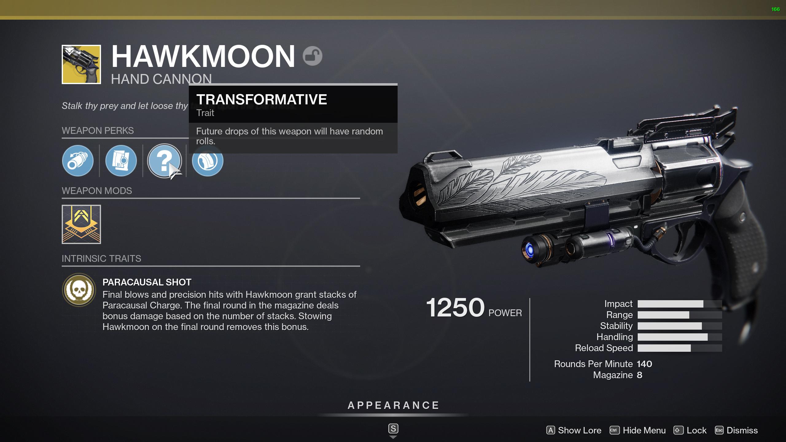 destiny 2 hawkmoon perks