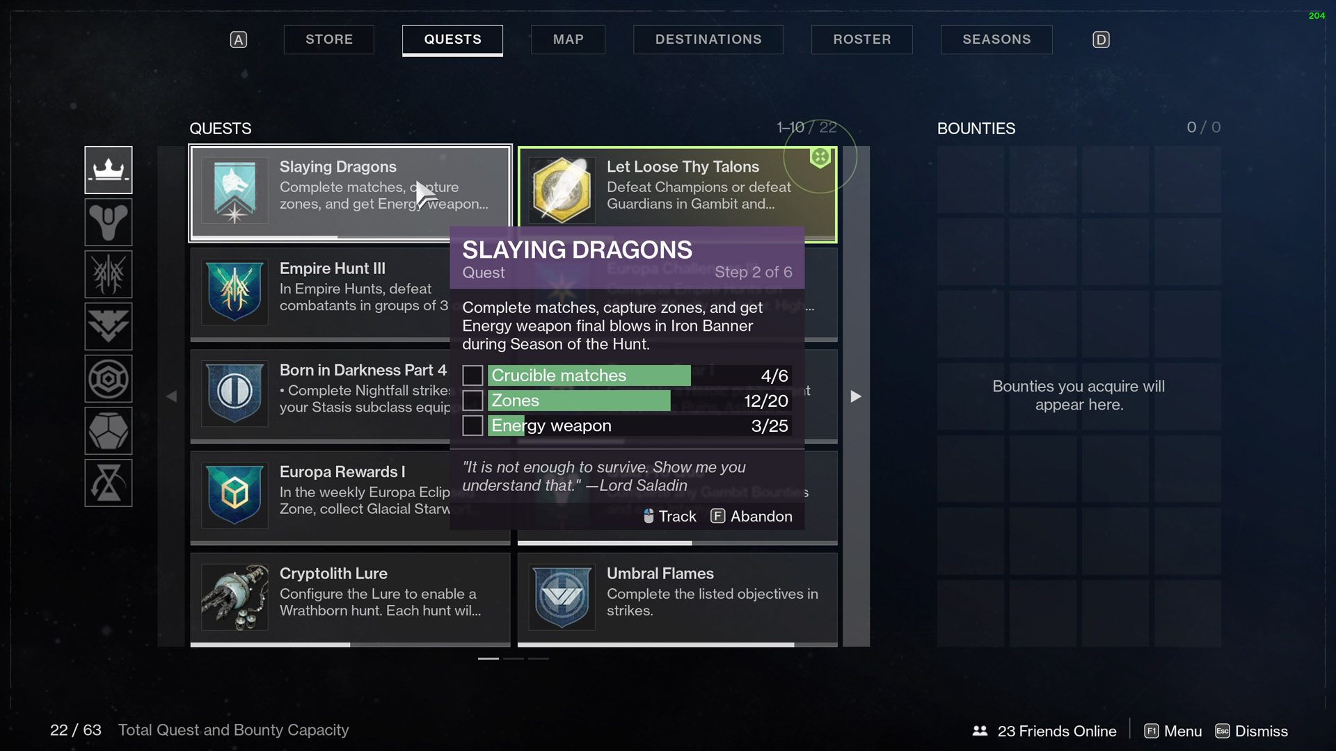 destiny 2 slaying dragons step 2