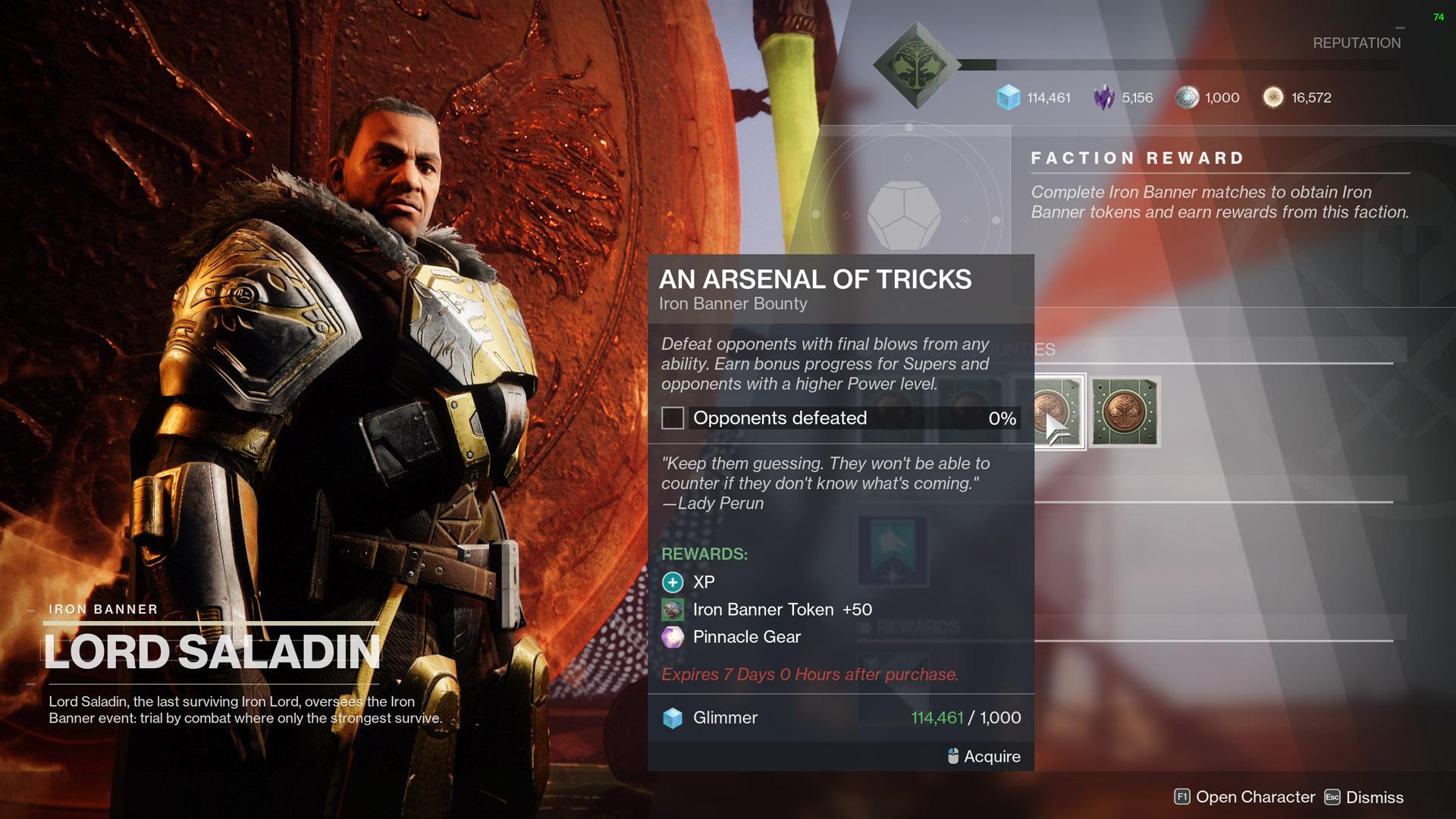 destiny 2 an arsenal of tricks